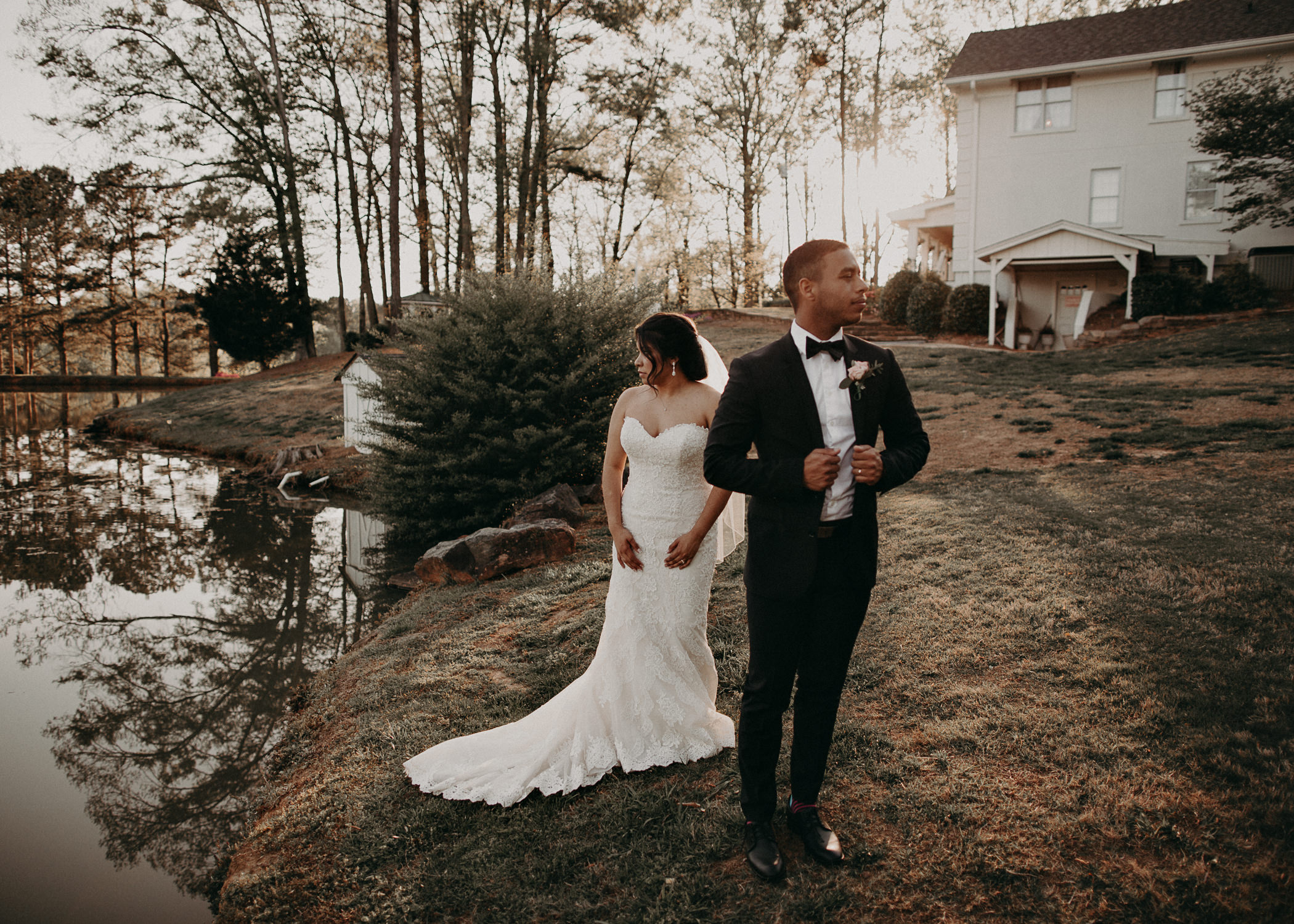 52  - Little River Farms - first look - Atlanta - Wedding Venue - Atlanta Wedding Photographer - Georgia weddings details wedding dress shoes gather groom bridal party .jpg
