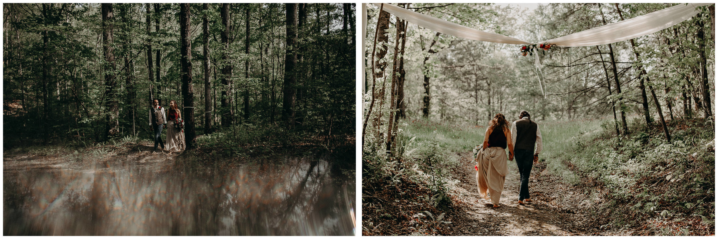 52- Forest wedding boho enchanched fairytale wedding atlanta - ga , intimate, elopement, nature, greens, good vibes. Aline Marin Photography .jpg