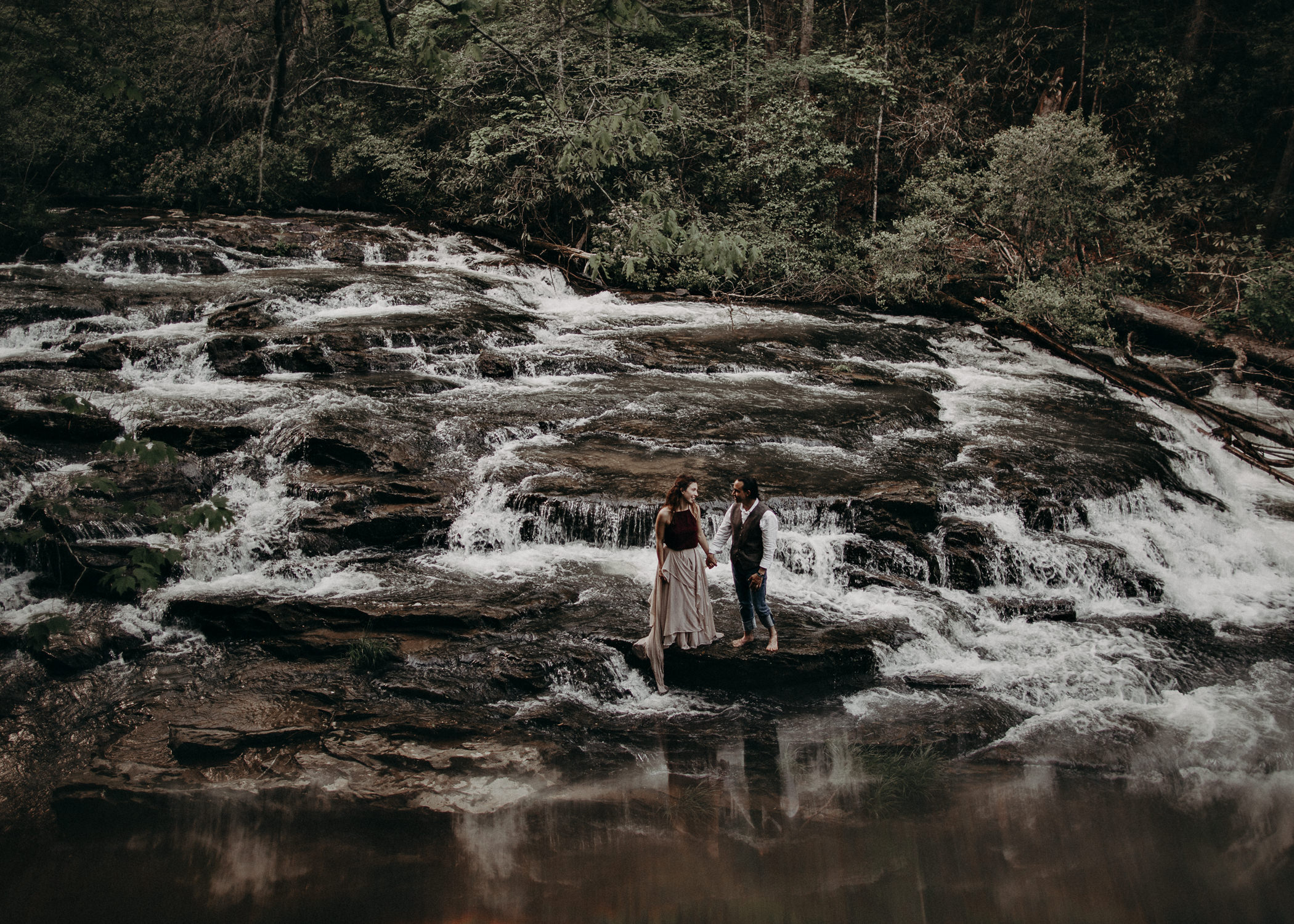 95- Forest wedding boho enchanched fairytale wedding atlanta - ga , intimate, elopement, nature, greens, good vibes. Aline Marin Photography .jpg