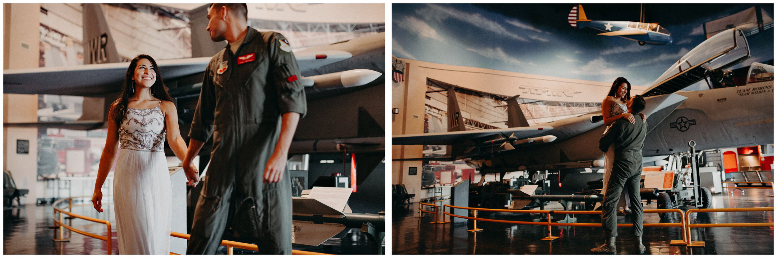 2 Museum of aviation engagement shoot - preview - Aline Marin Atlanta Photographer .jpg