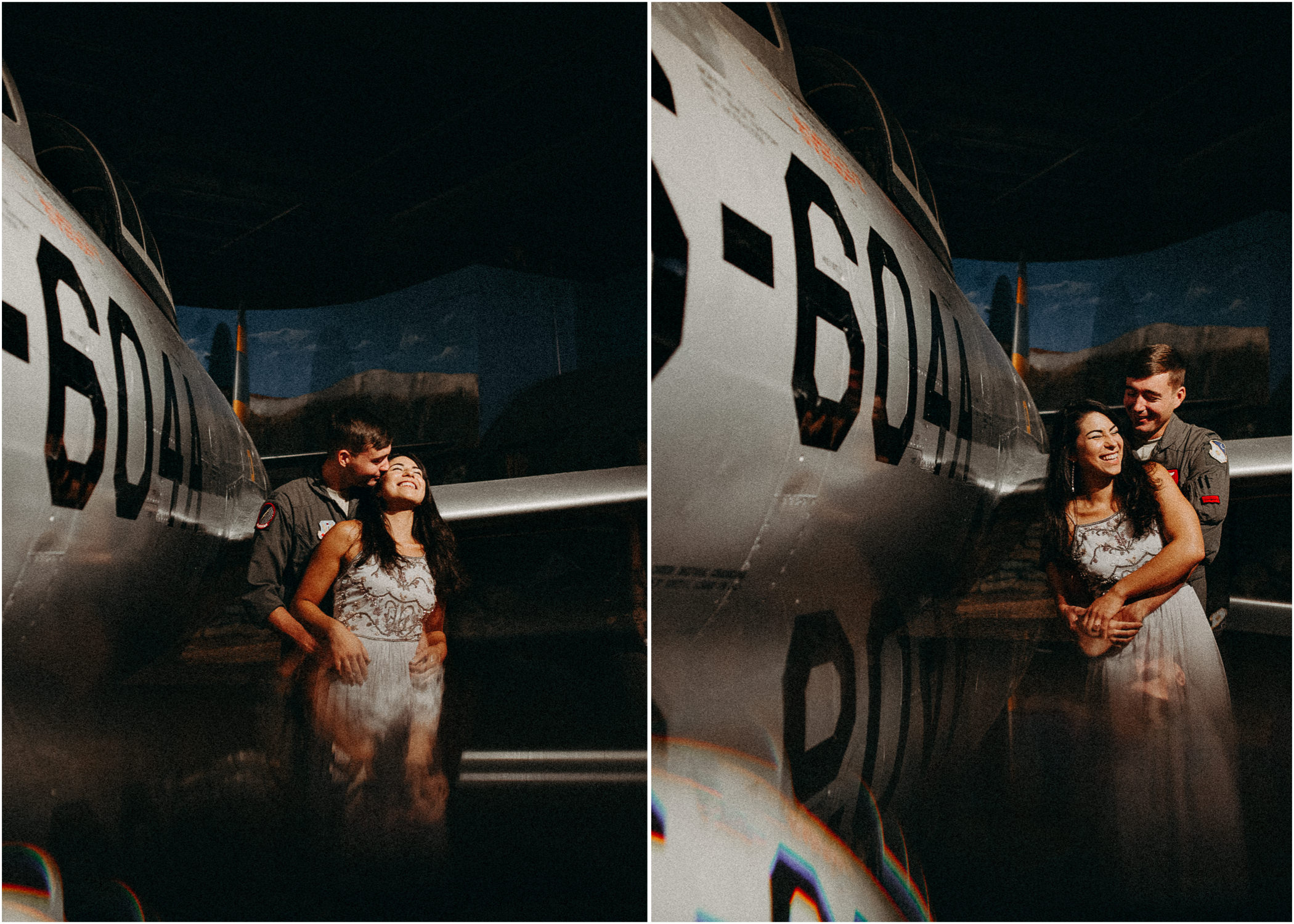 6 Museum of aviation engagement shoot - preview - Aline Marin Atlanta Photographer .jpg