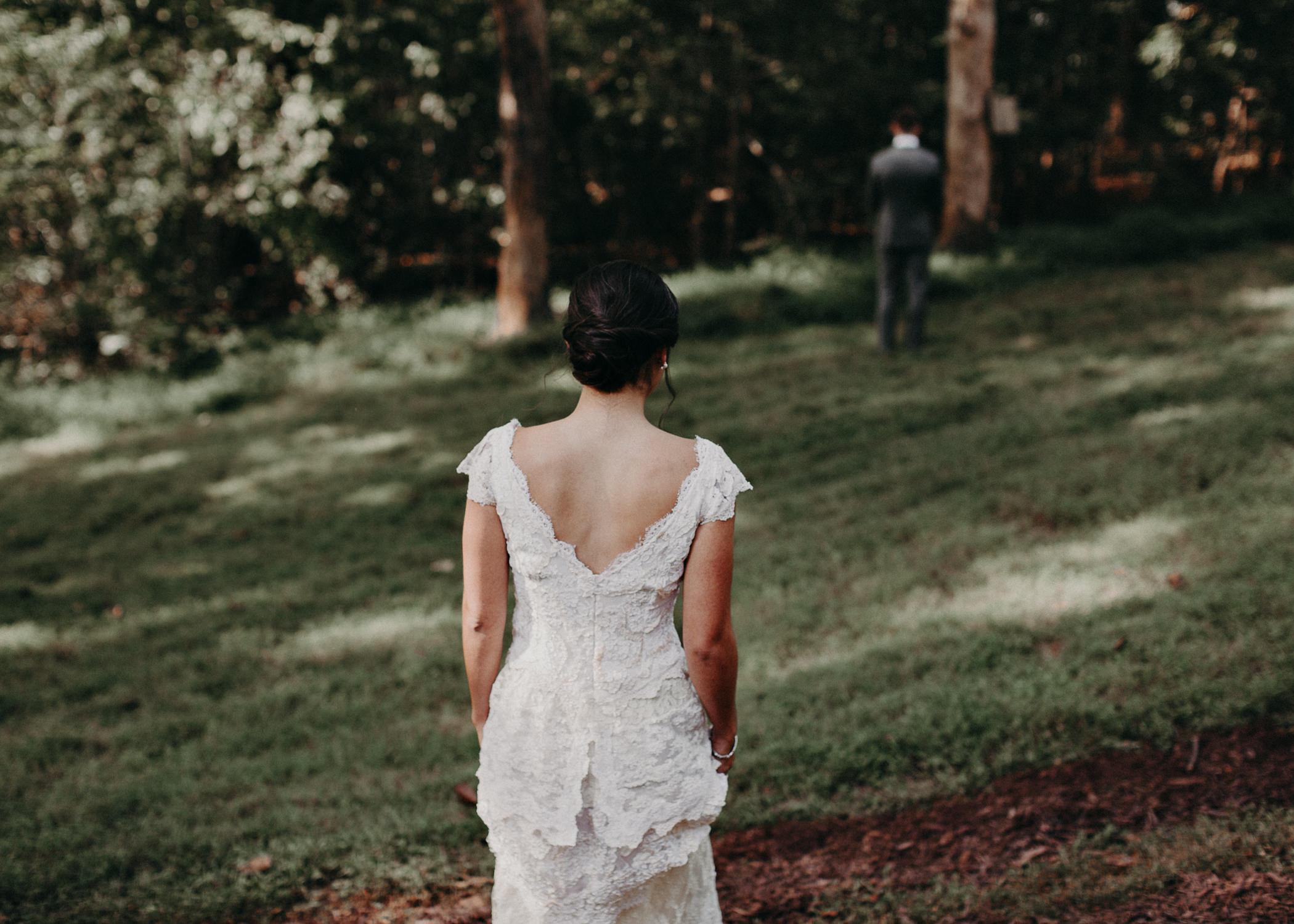 34 Bride & Groom first look before the ceremony on wedding day - Atlanta Wedding Photographer .jpg