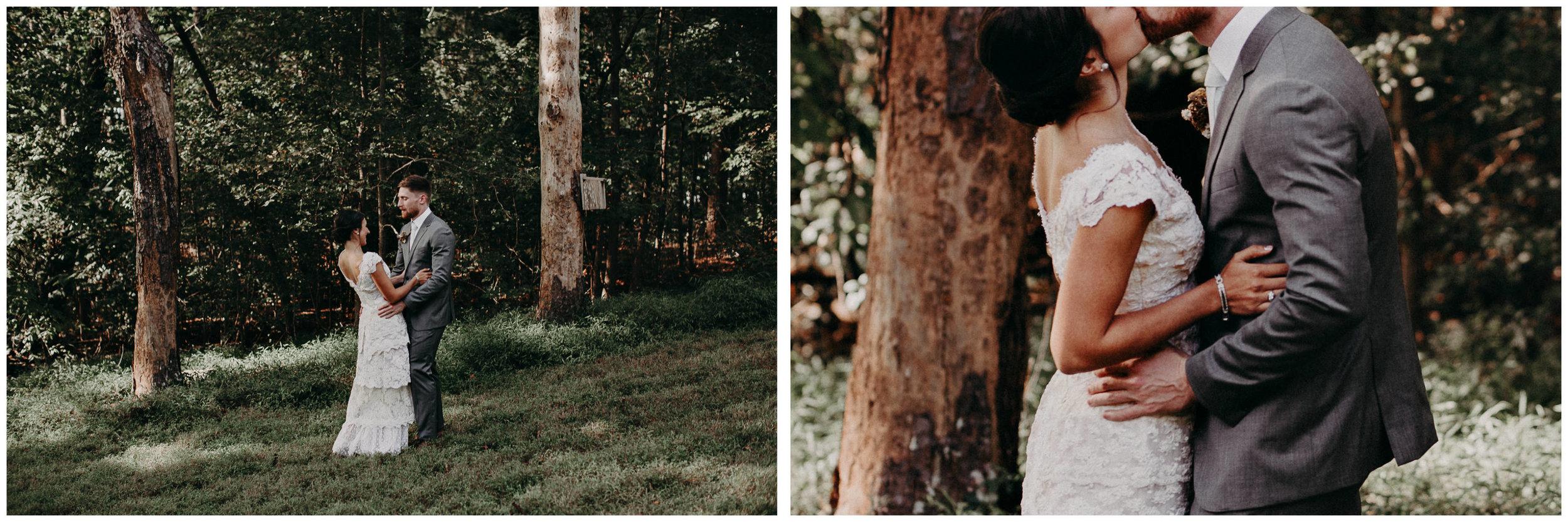 37 Bride & Groom first look before the ceremony on wedding day - Atlanta Wedding Photographer .jpg