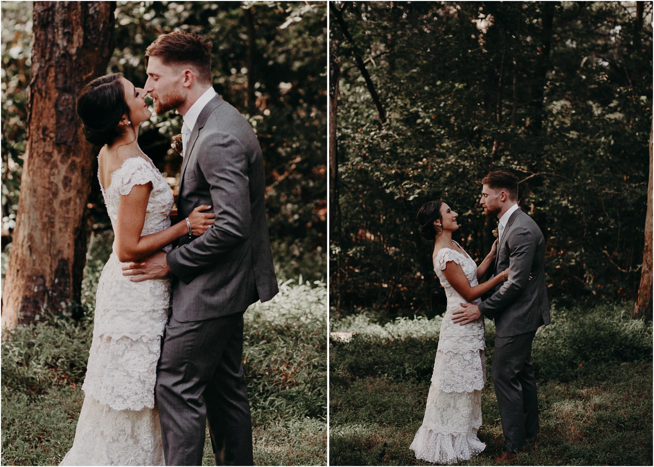 38 Bride & Groom first look before the ceremony on wedding day - Atlanta Wedding Photographer .jpg