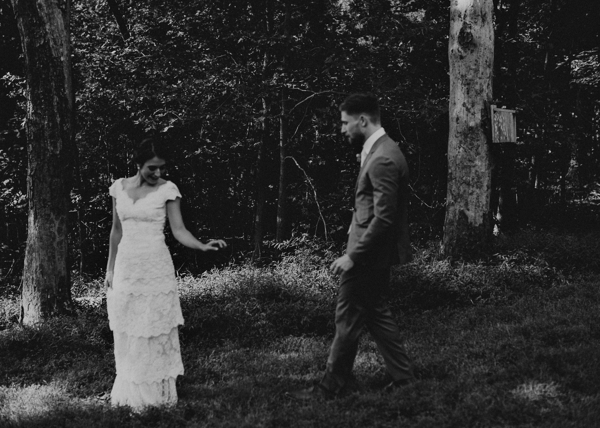 40 Bride & Groom first look before the ceremony on wedding day - Atlanta Wedding Photographer .jpg