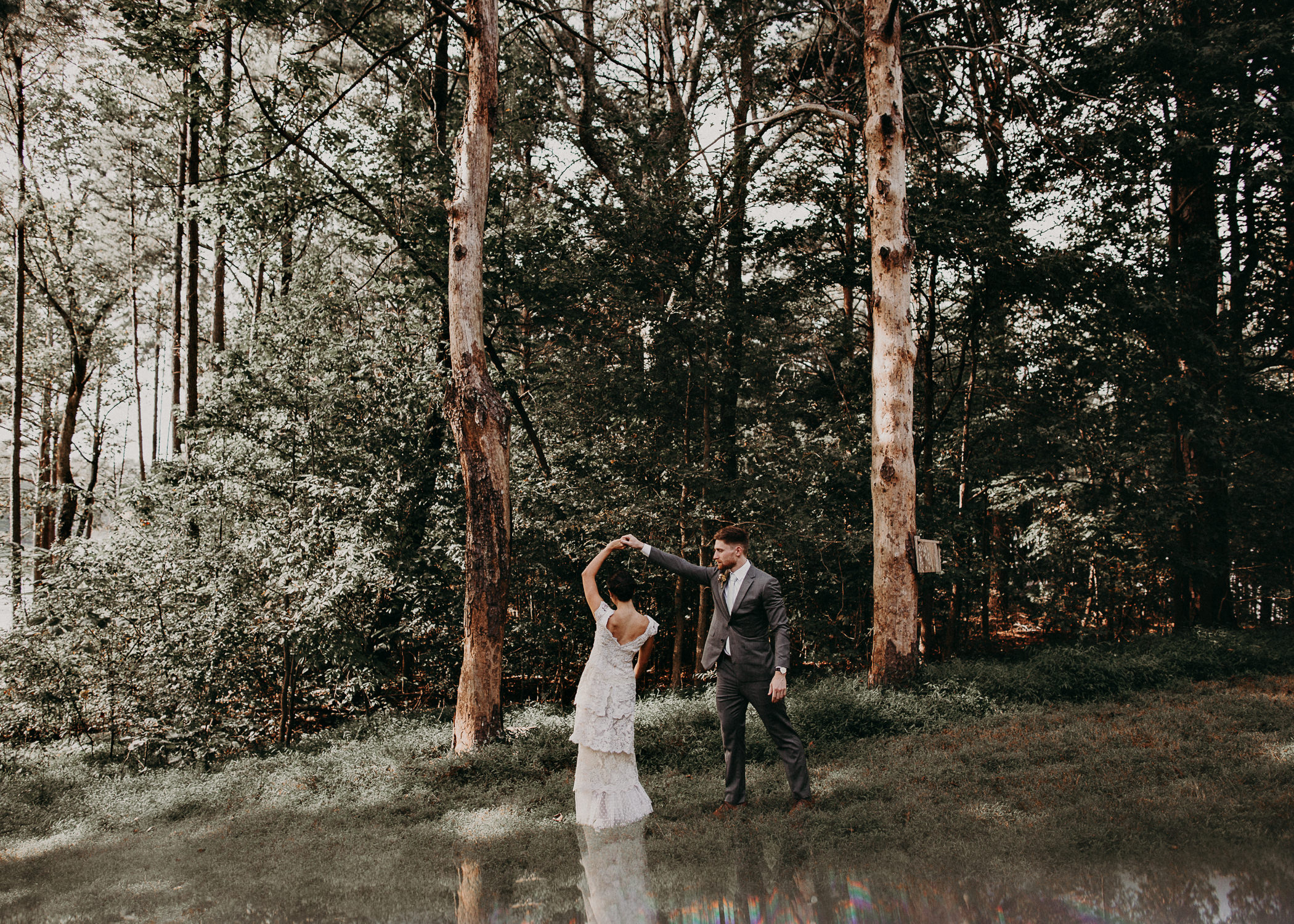 41 Bride & Groom first look before the ceremony on wedding day - Atlanta Wedding Photographer .jpg