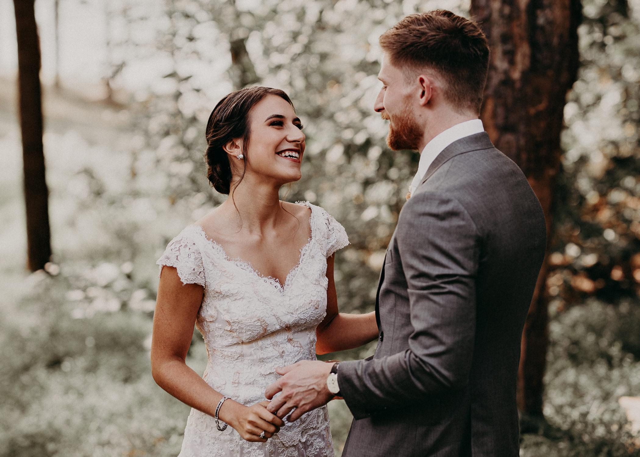 43 Bride & Groom first look before the ceremony on wedding day - Atlanta Wedding Photographer .jpg