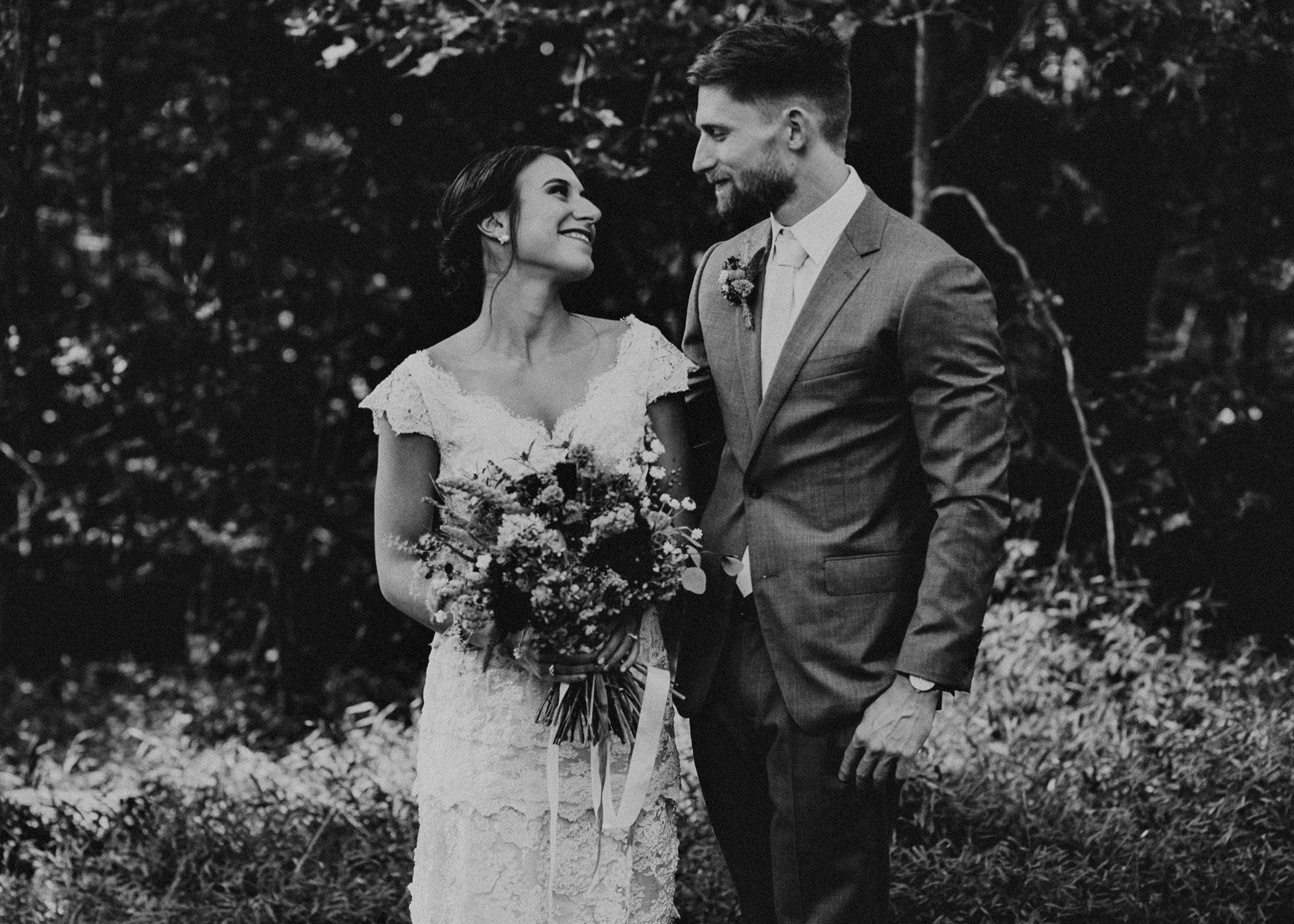 45 Bride & Groom first look before the ceremony on wedding day - Atlanta Wedding Photographer .jpg