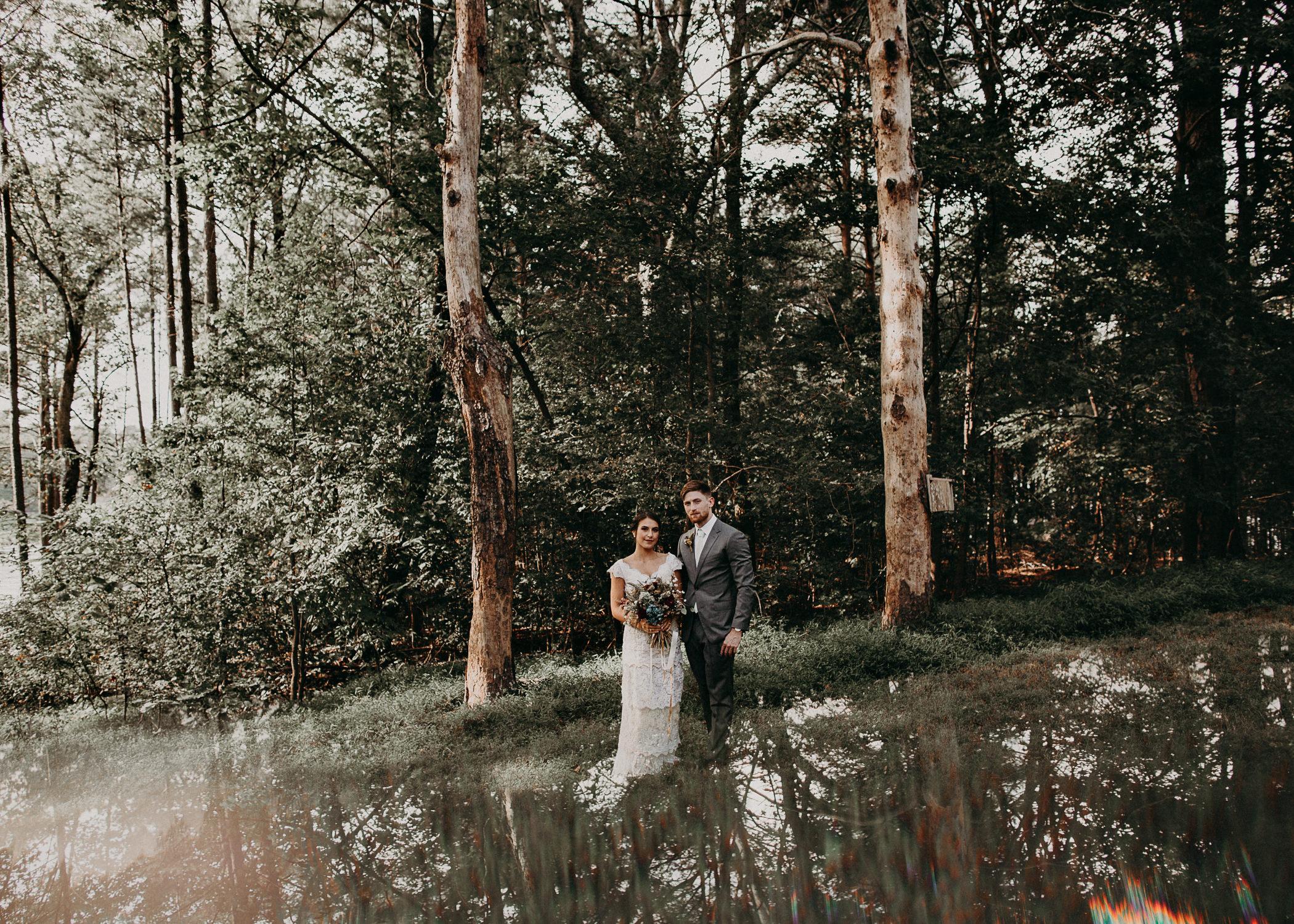 44 Bride & Groom first look before the ceremony on wedding day - Atlanta Wedding Photographer .jpg