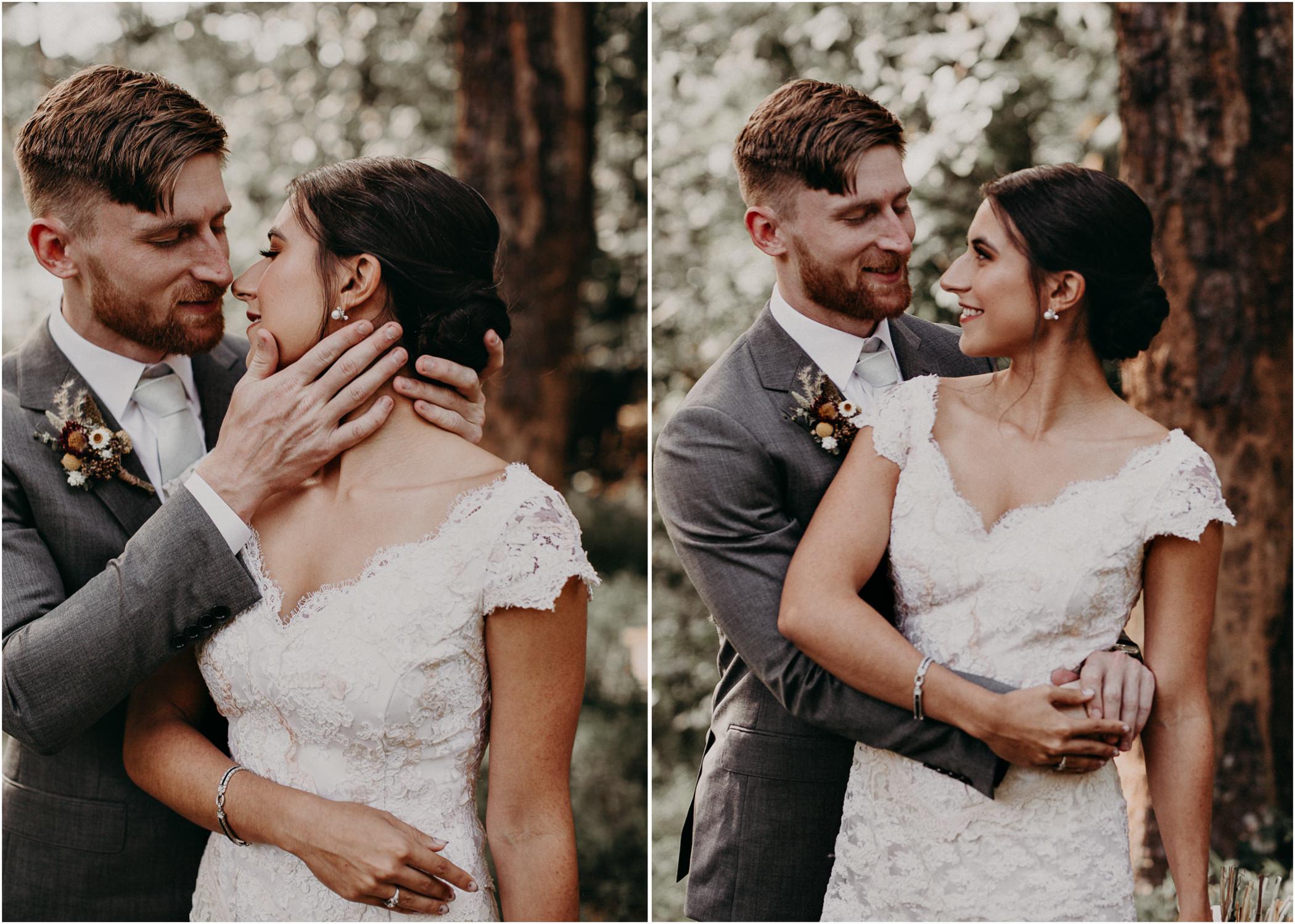 47 Bride & Groom first look before the ceremony on wedding day - Atlanta Wedding Photographer .jpg