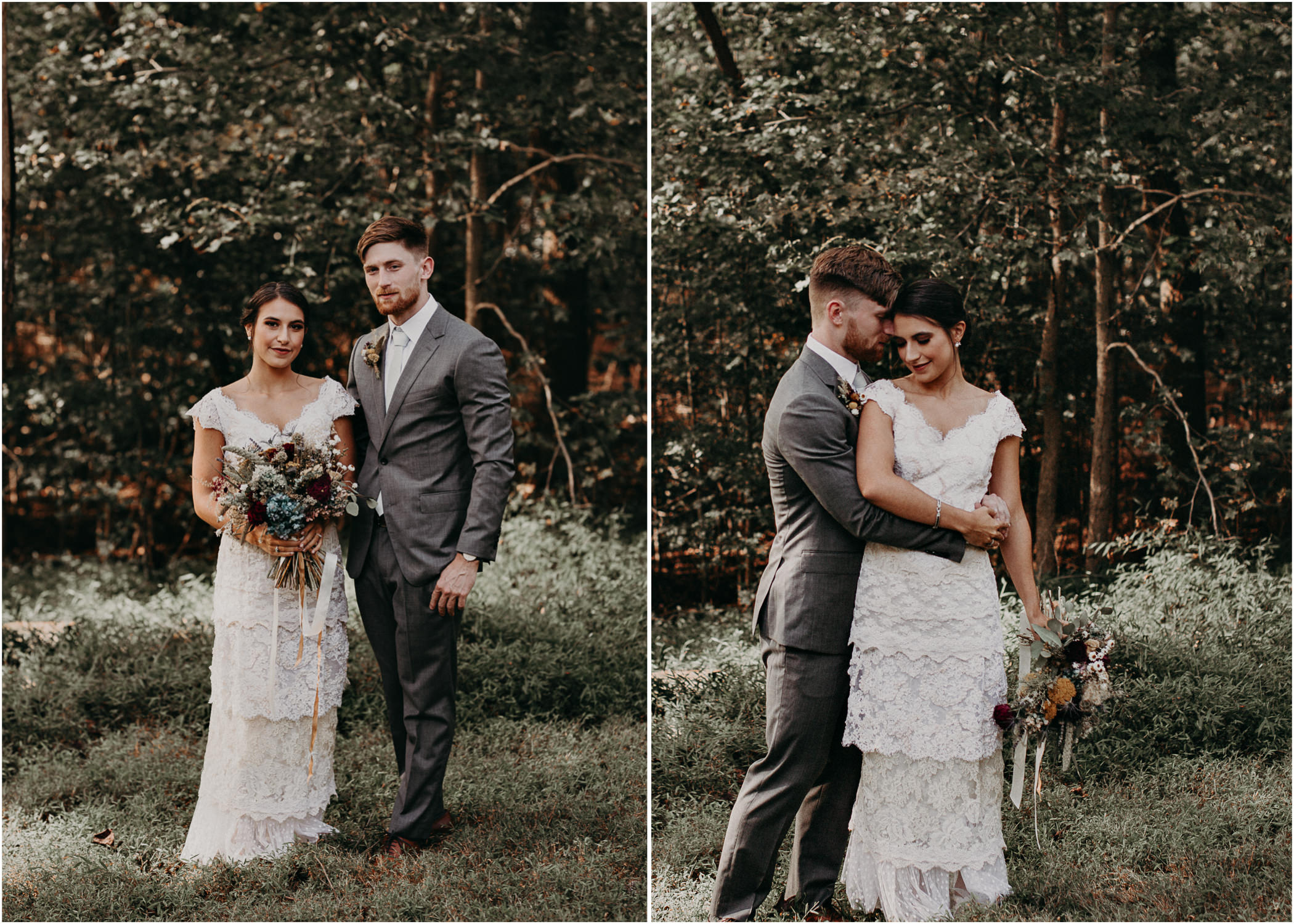 46 Bride & Groom first look before the ceremony on wedding day - Atlanta Wedding Photographer .jpg