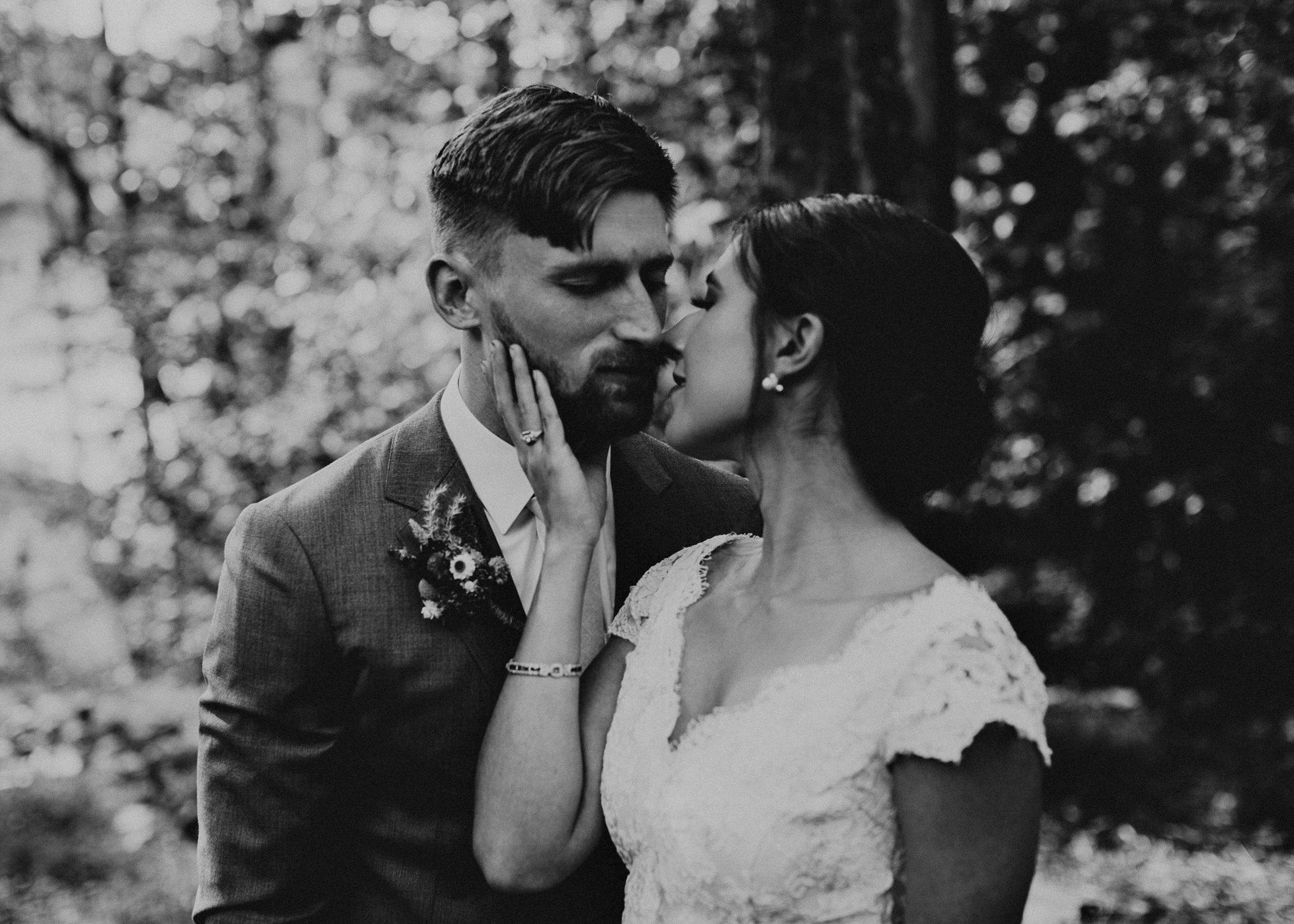 48 Bride & Groom first look before the ceremony on wedding day - Atlanta Wedding Photographer .jpg