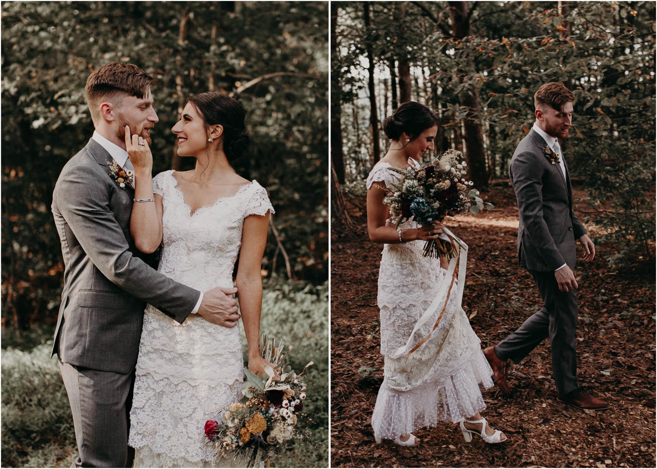 49 Bride & Groom first look before the ceremony on wedding day - Atlanta Wedding Photographer .jpg