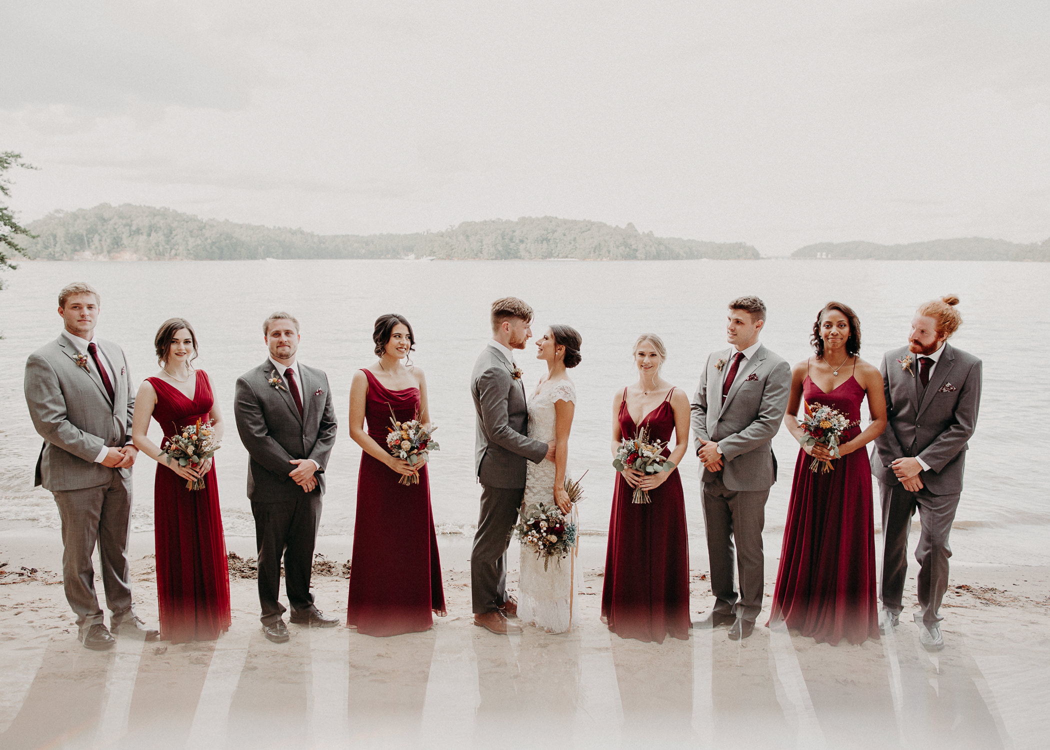 75 Bridal Party and Bride & Groom Portraits before the ceremony on wedding day - Atlanta Wedding Photographer .jpg