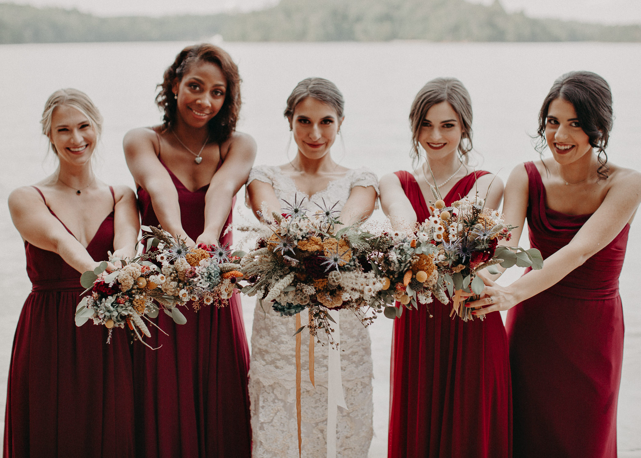 83 Bridal Party and Bride & Groom Portraits before the ceremony on wedding day - Atlanta Wedding Photographer .jpg