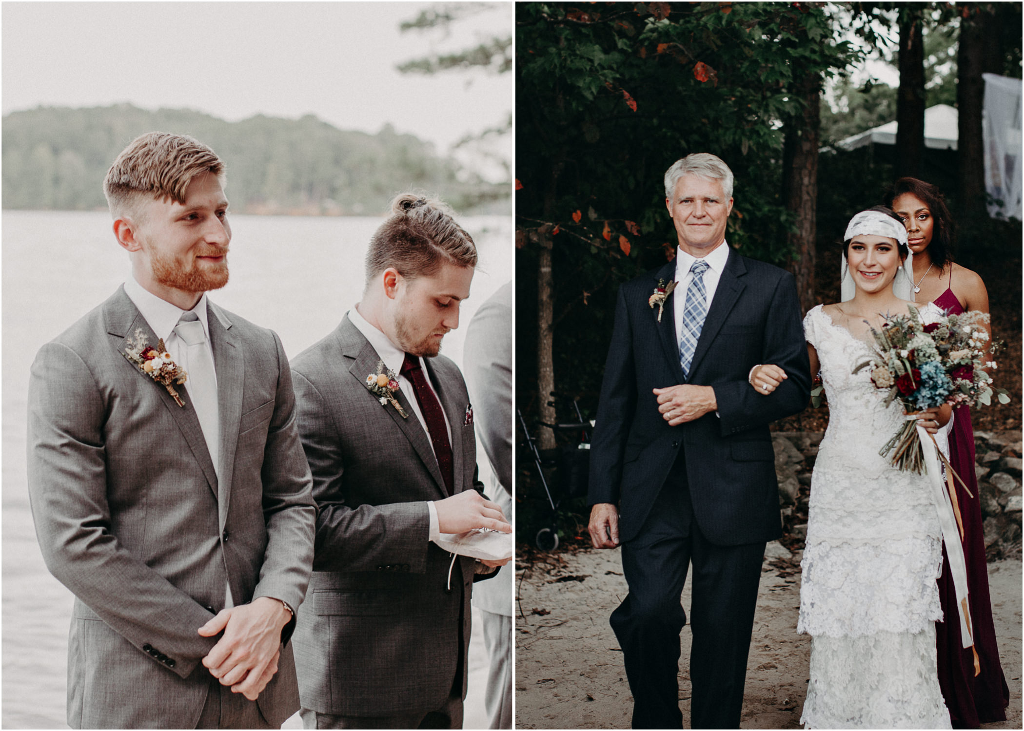 95 - Bride walking down the aisle -  Wedding Ceremony - Destination Wedding : Beach : Lake Wedding Atlanta Wedding Photographer .jpg