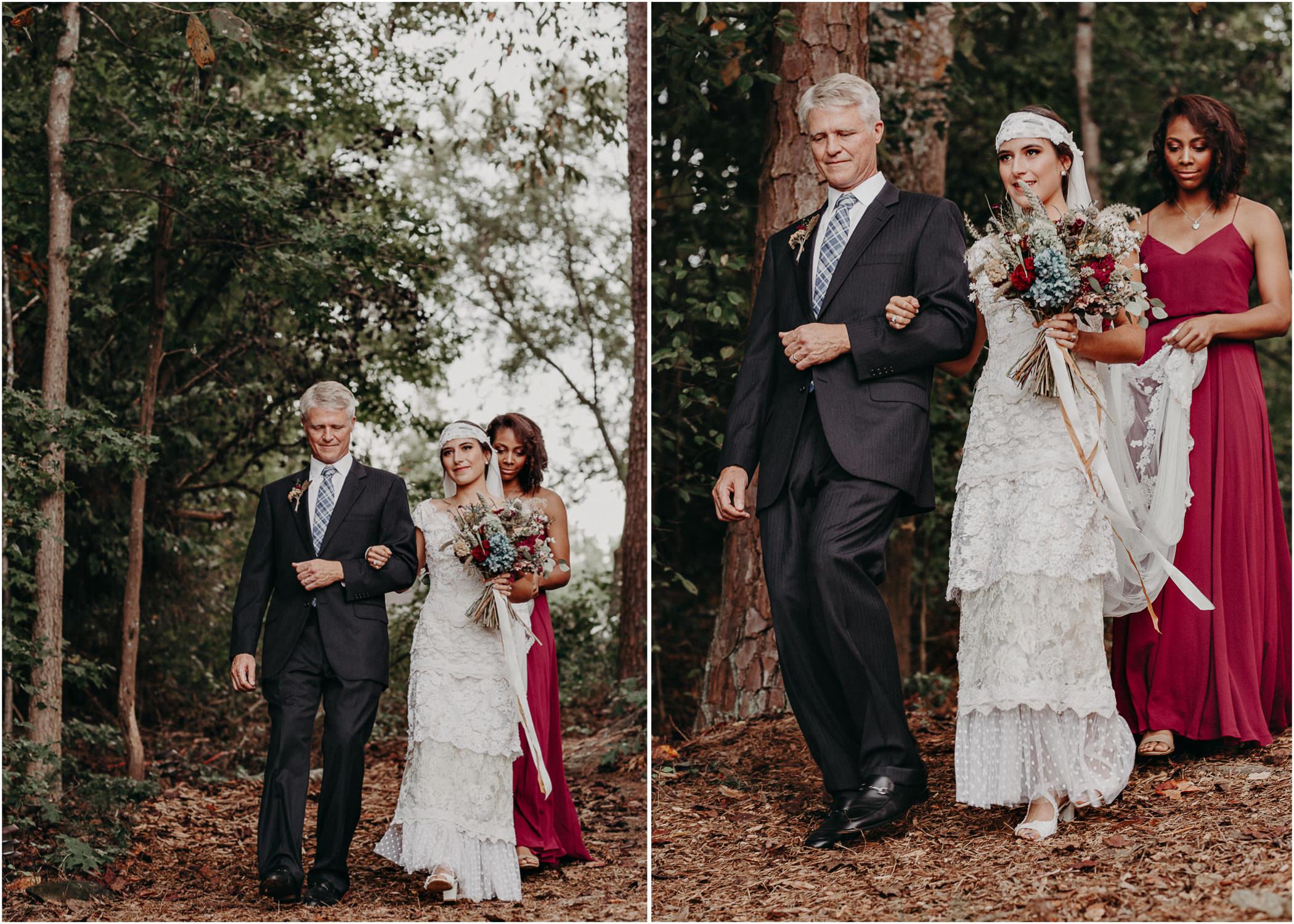 94 - Bride walking down the aisle -  Wedding Ceremony - Destination Wedding : Beach : Lake Wedding Atlanta Wedding Photographer .jpg