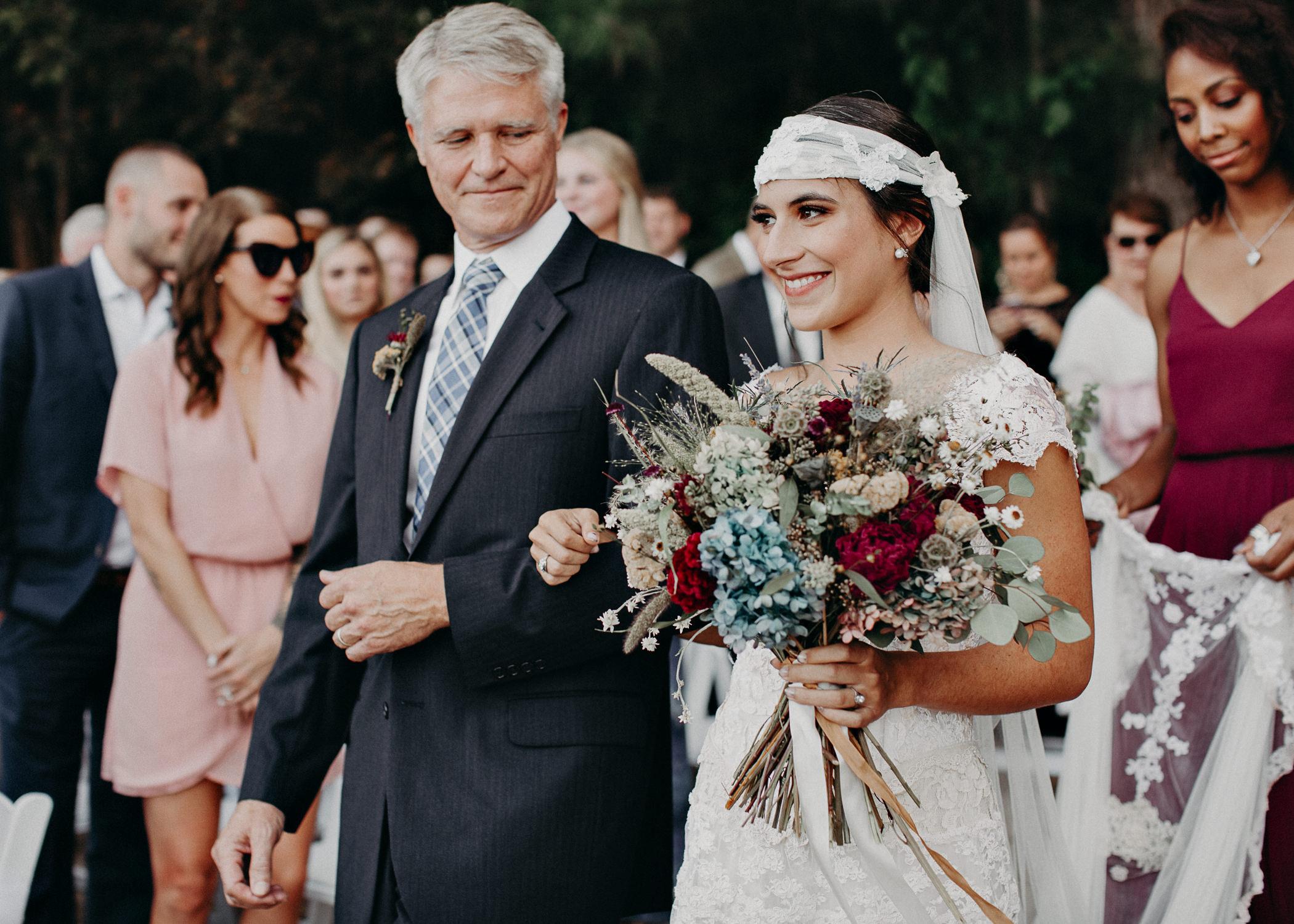 96 - Bride walking down the aisle -  Wedding Ceremony - Destination Wedding : Beach : Lake Wedding Atlanta Wedding Photographer .jpg