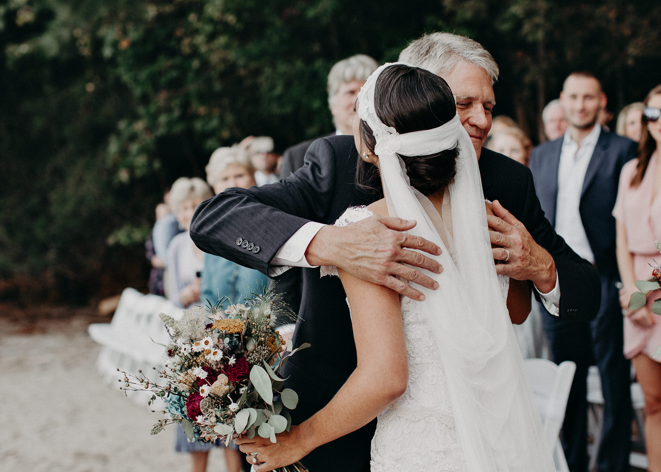 97 - Bride walking down the aisle -  Wedding Ceremony - Destination Wedding : Beach : Lake Wedding Atlanta Wedding Photographer .jpg