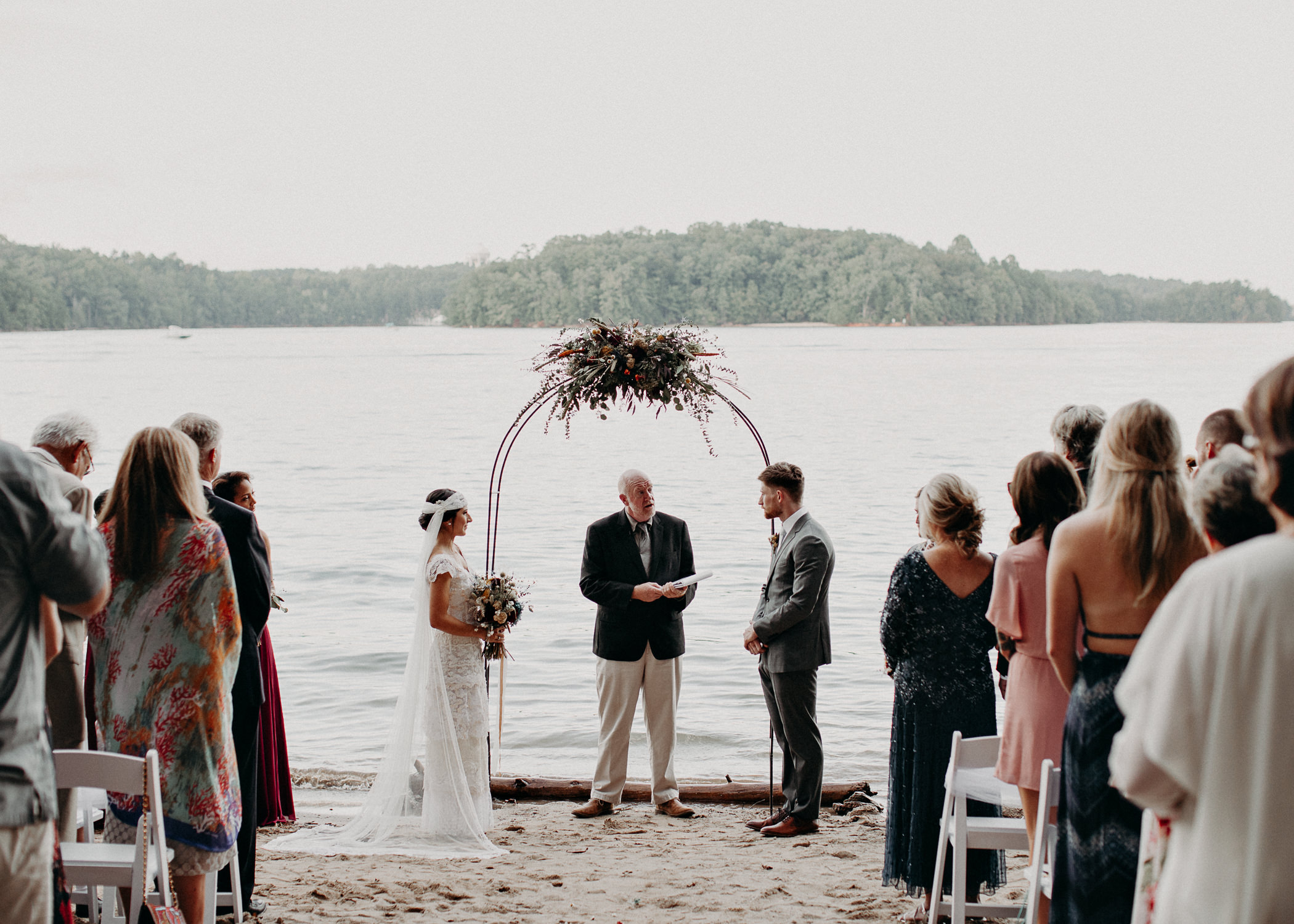 98 - Bride walking down the aisle -  Wedding Ceremony - Destination Wedding : Beach : Lake Wedding Atlanta Wedding Photographer .jpg
