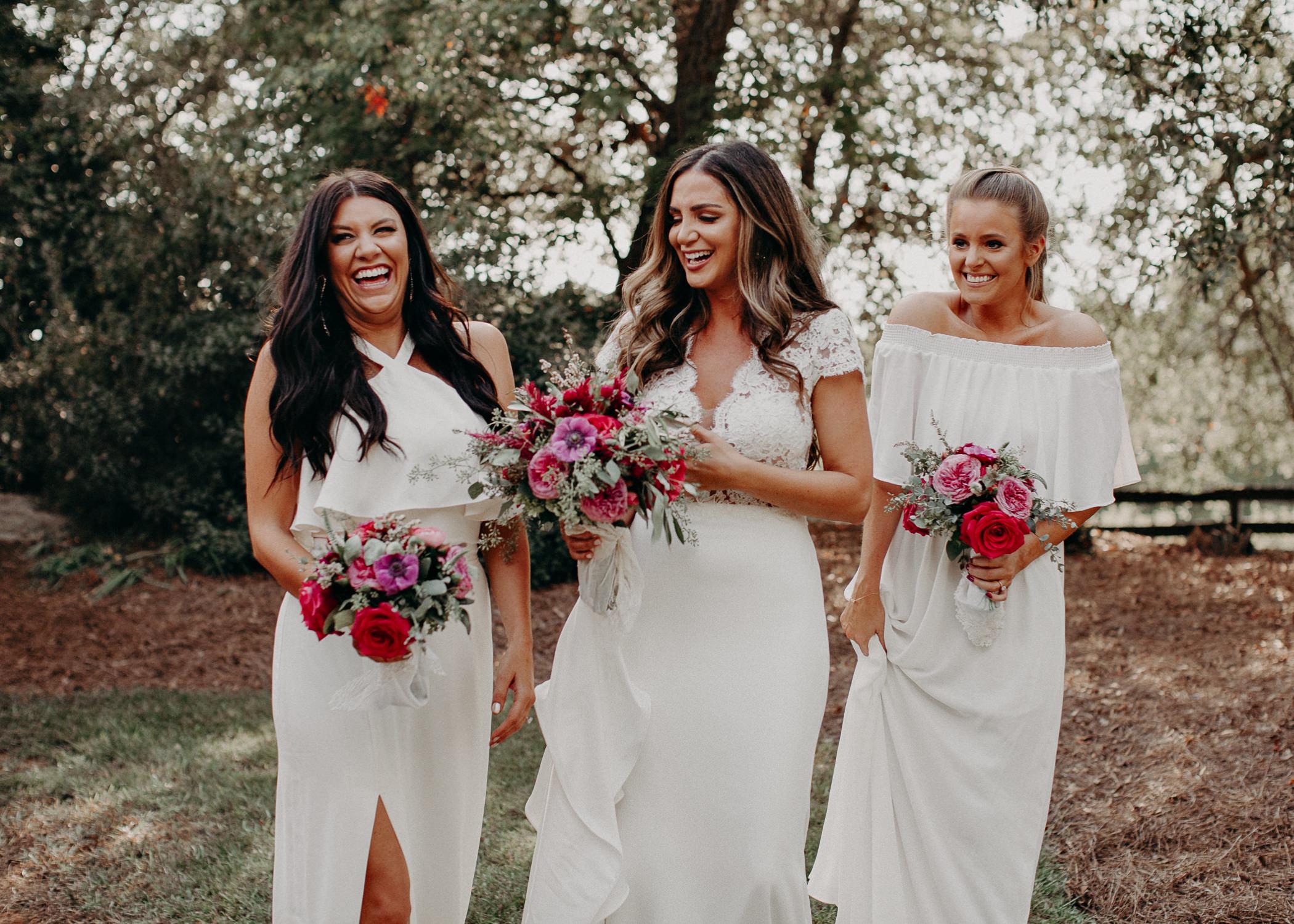 39 - wedding dress, bridesmaids, bouquet - bride getting ready wedding seranbi farms atlanta .jpg