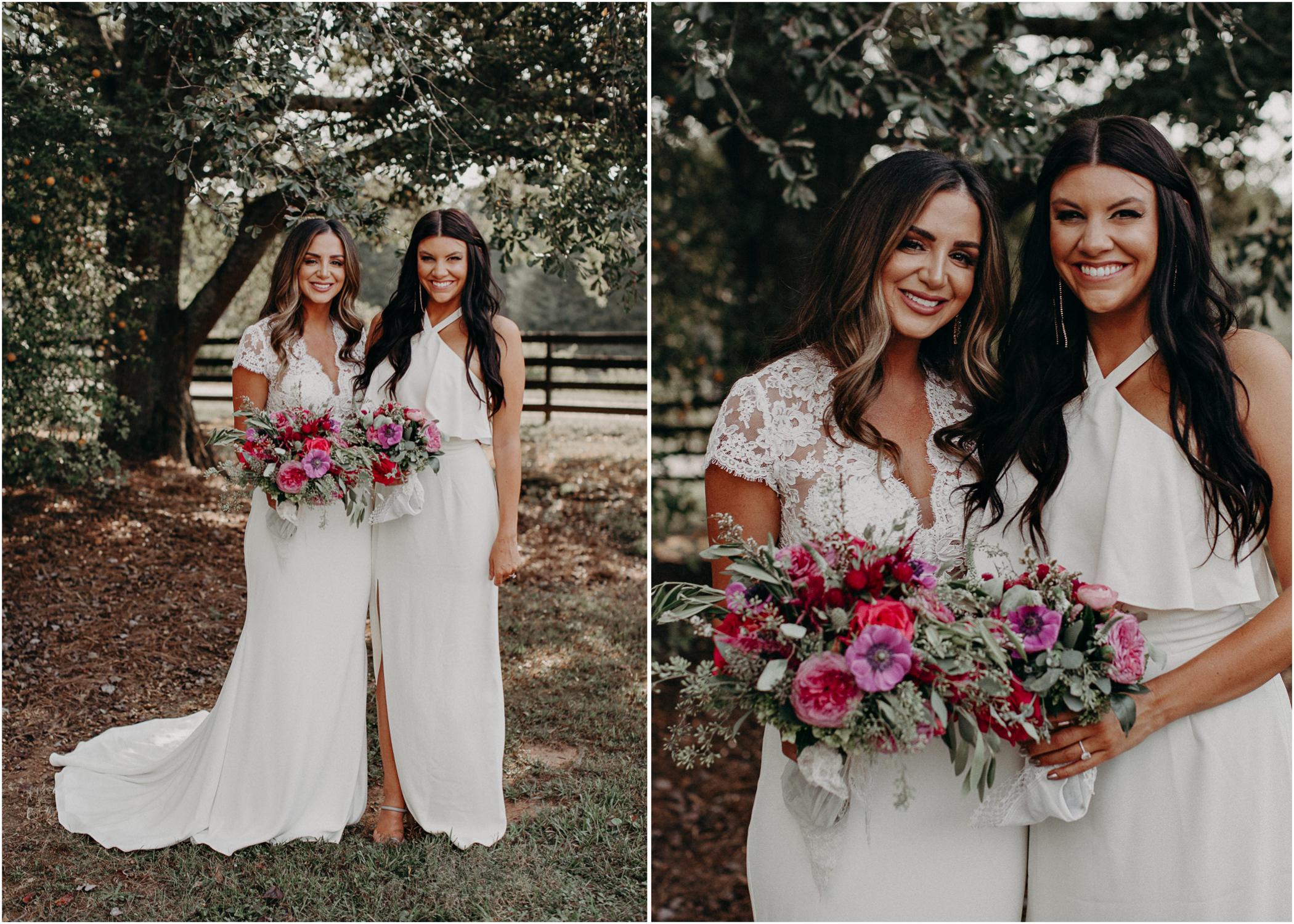 43 - wedding dress, bridesmaids, bouquet - bride getting ready wedding seranbi farms atlanta .jpg