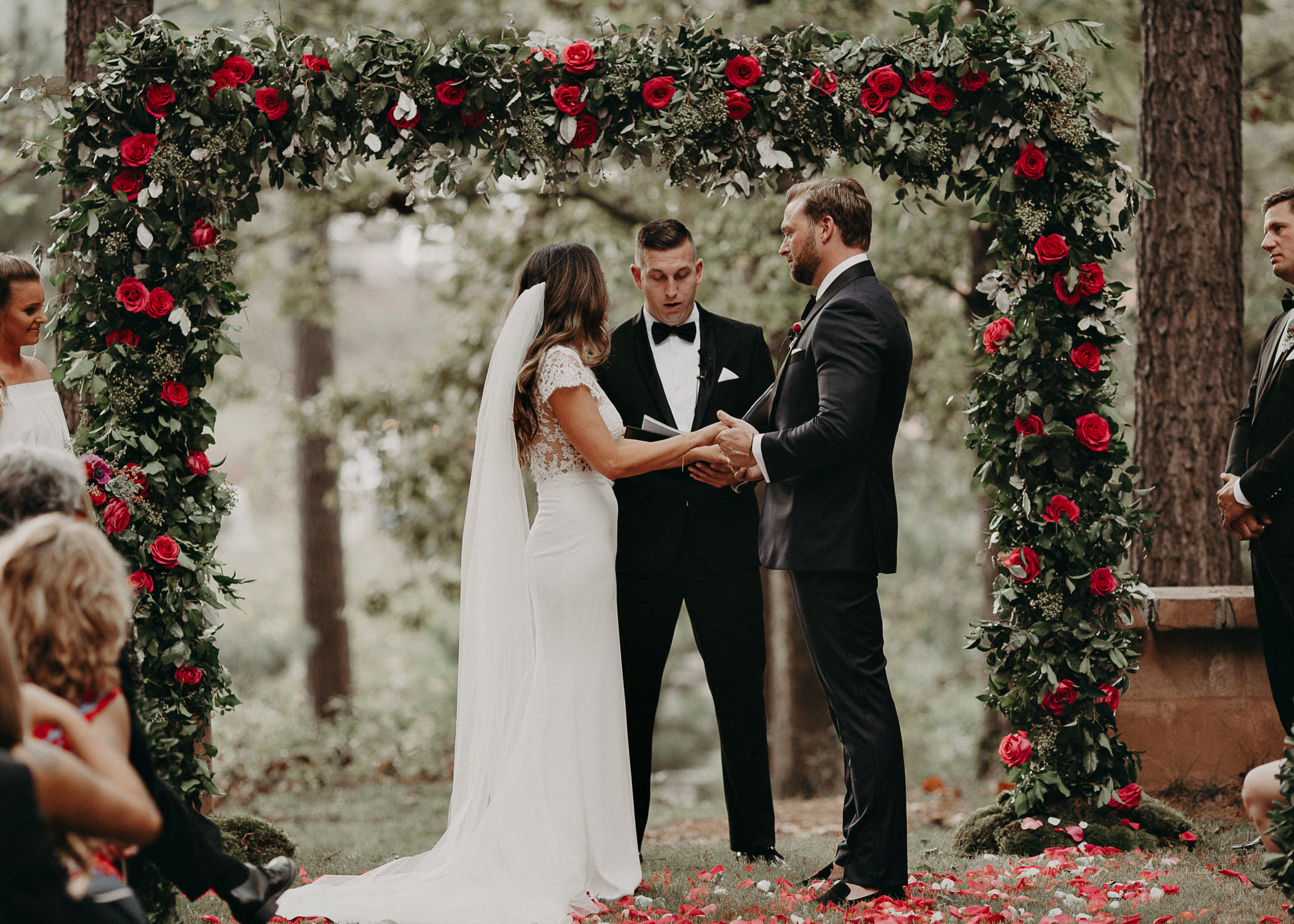 68 - Exchange of vows at wedding ceremony at serenbi farms atlanta .jpg