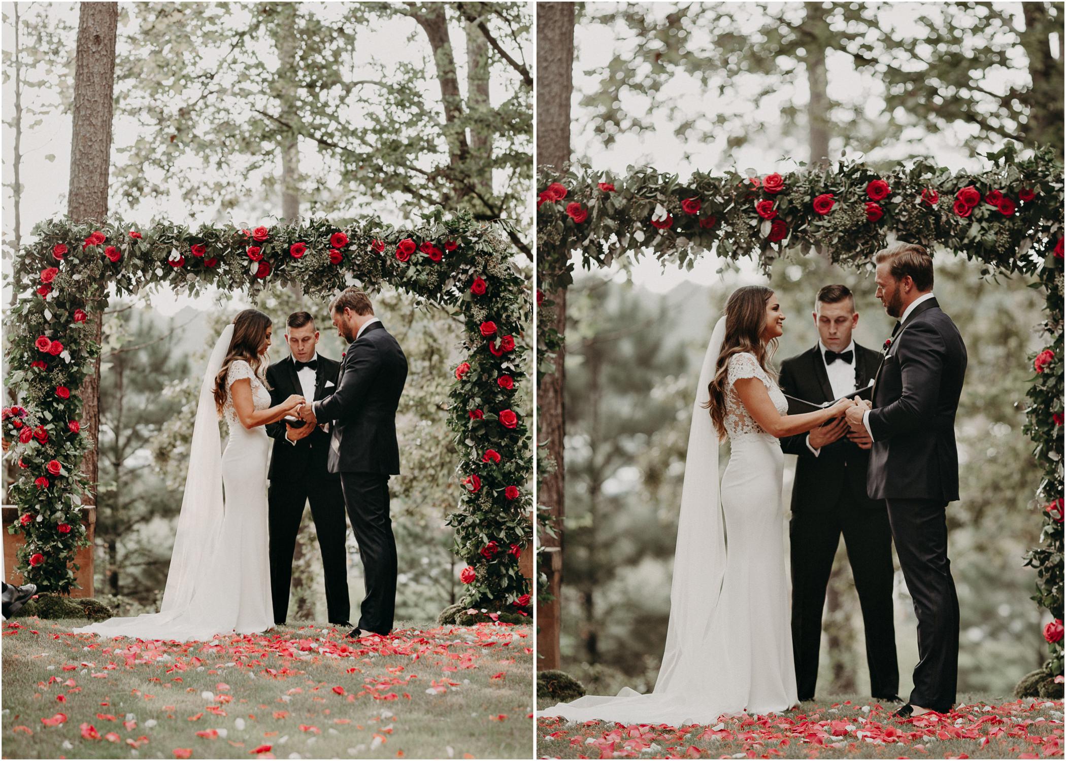 69 - Exchange of vows at wedding ceremony at serenbi farms atlanta .jpg
