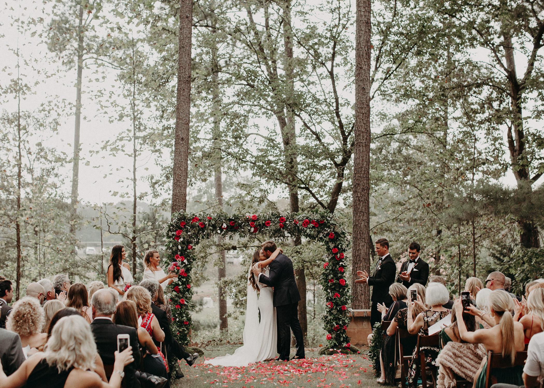 70 - Exchange of vows at wedding ceremony at serenbi farms atlanta .jpg