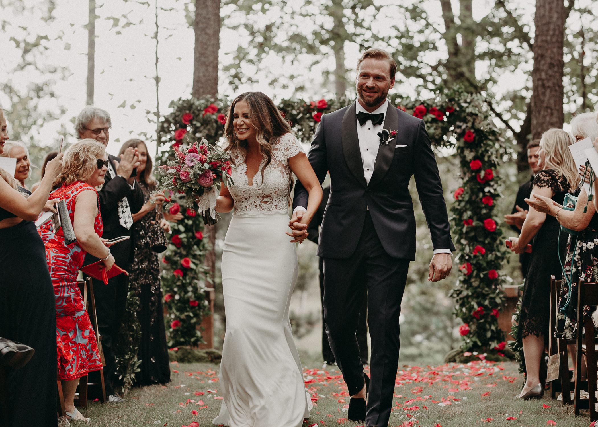 71 - walking down the aisle as husband and wife wedding ceremony at serenbi farms atlanta .jpg