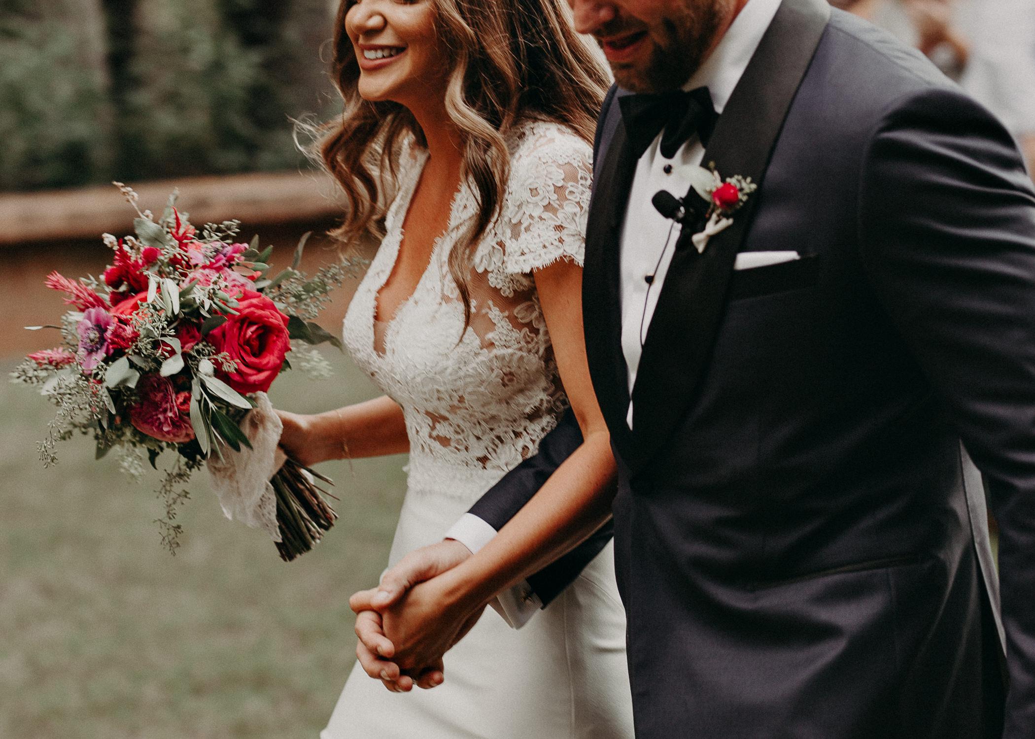 72 - walking down the aisle as husband and wife wedding ceremony at serenbi farms atlanta .jpg