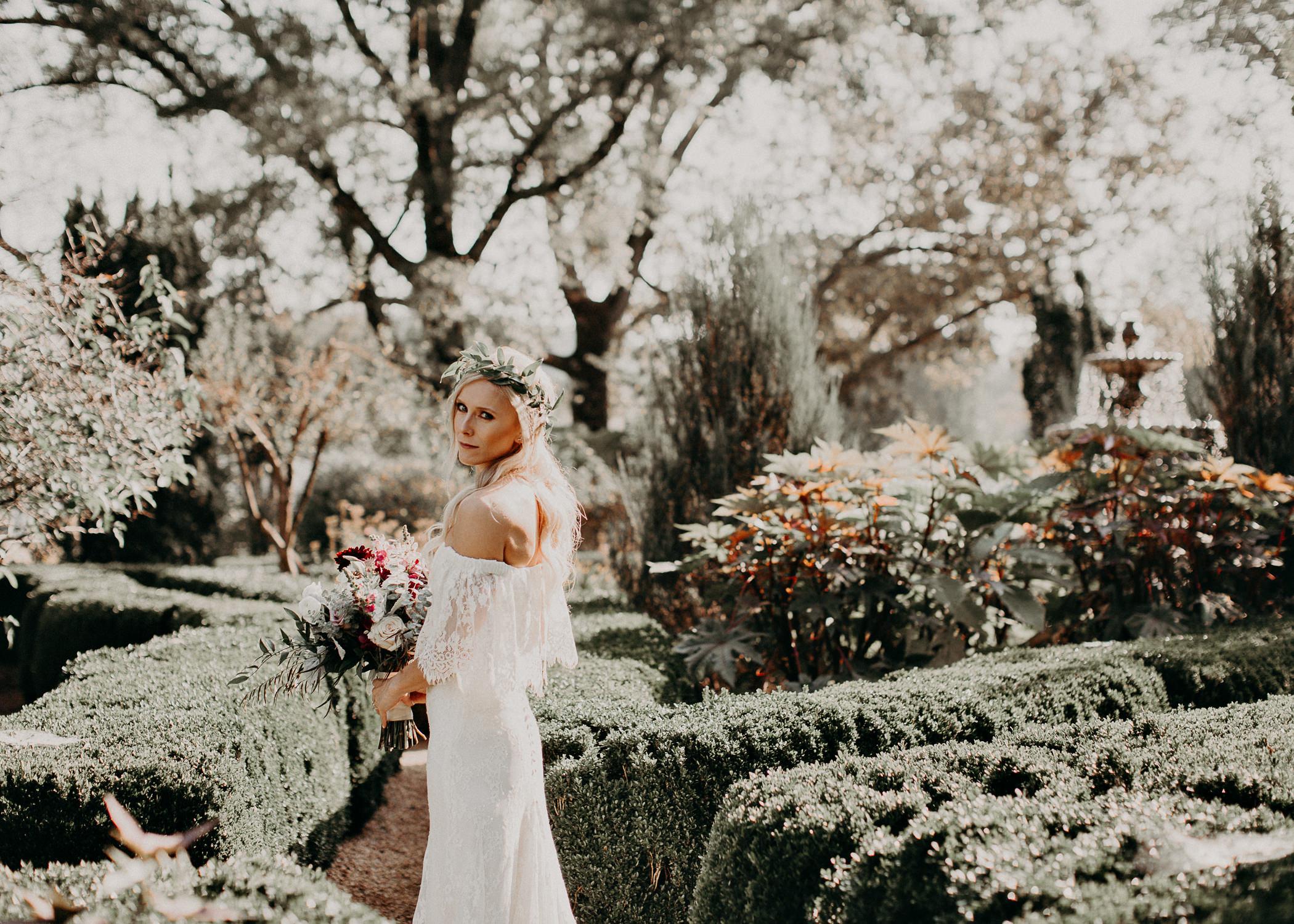 16 - Barnsley Gardens Wedding - Bride portraits - First Look .jpg