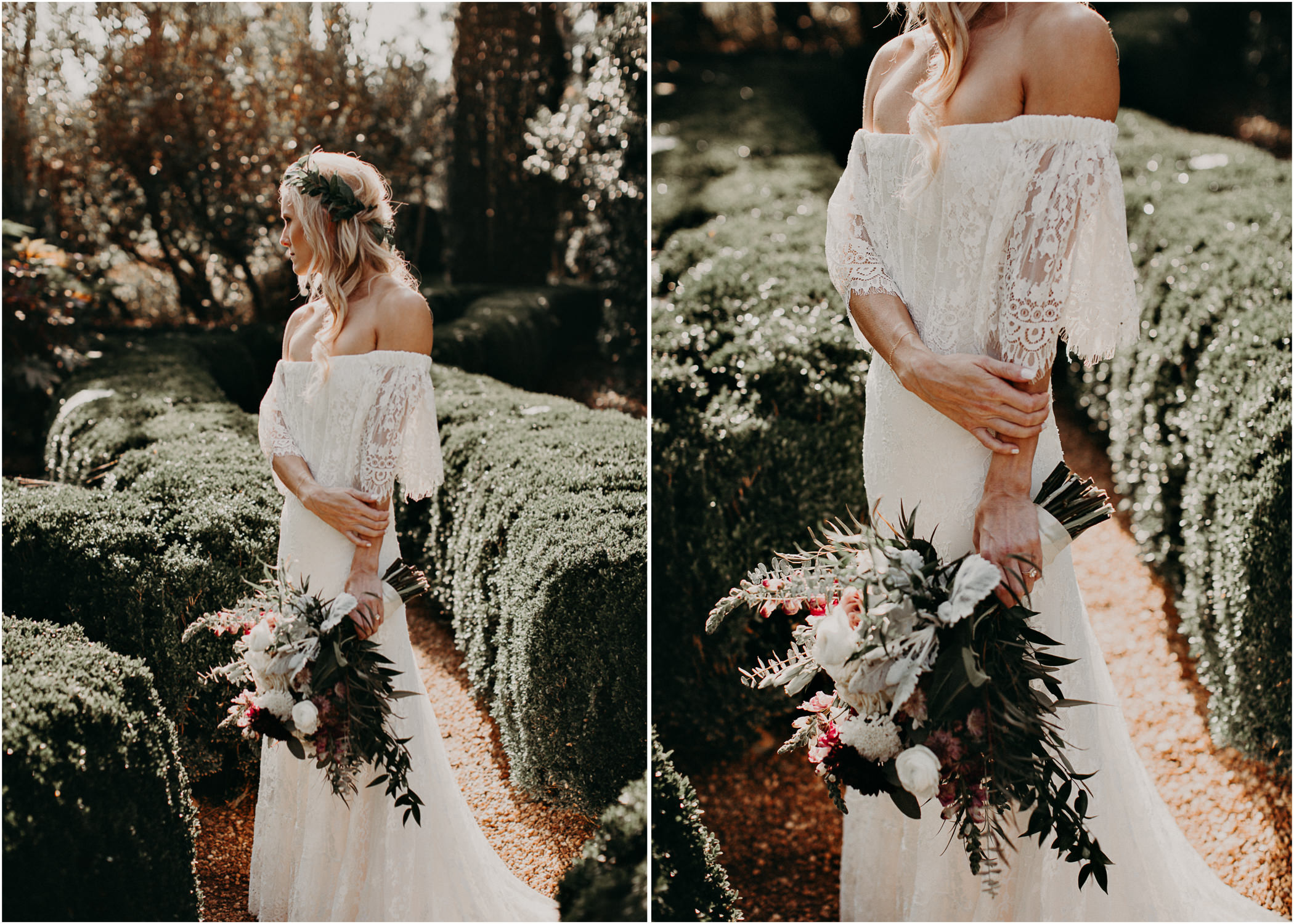 15 - Barnsley Gardens Wedding - Bride portraits - First Look .jpg