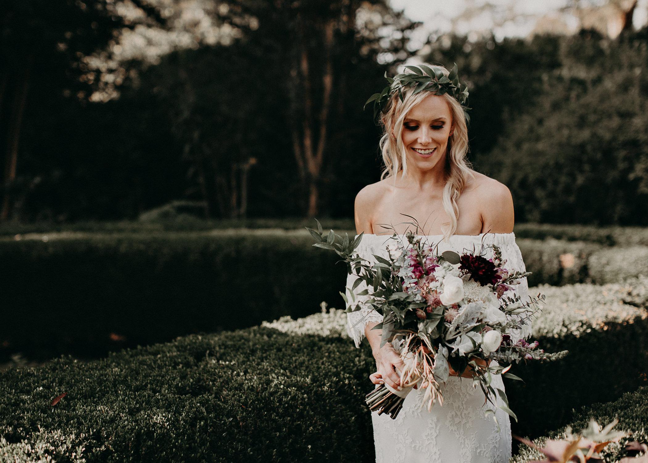 17 - Barnsley Gardens Wedding - Bride portraits - First Look .jpg