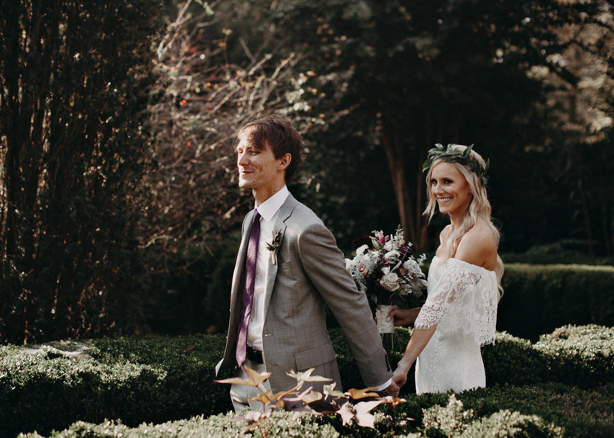 19 - Barnsley Gardens Wedding - Bride portraits - First Look .jpg