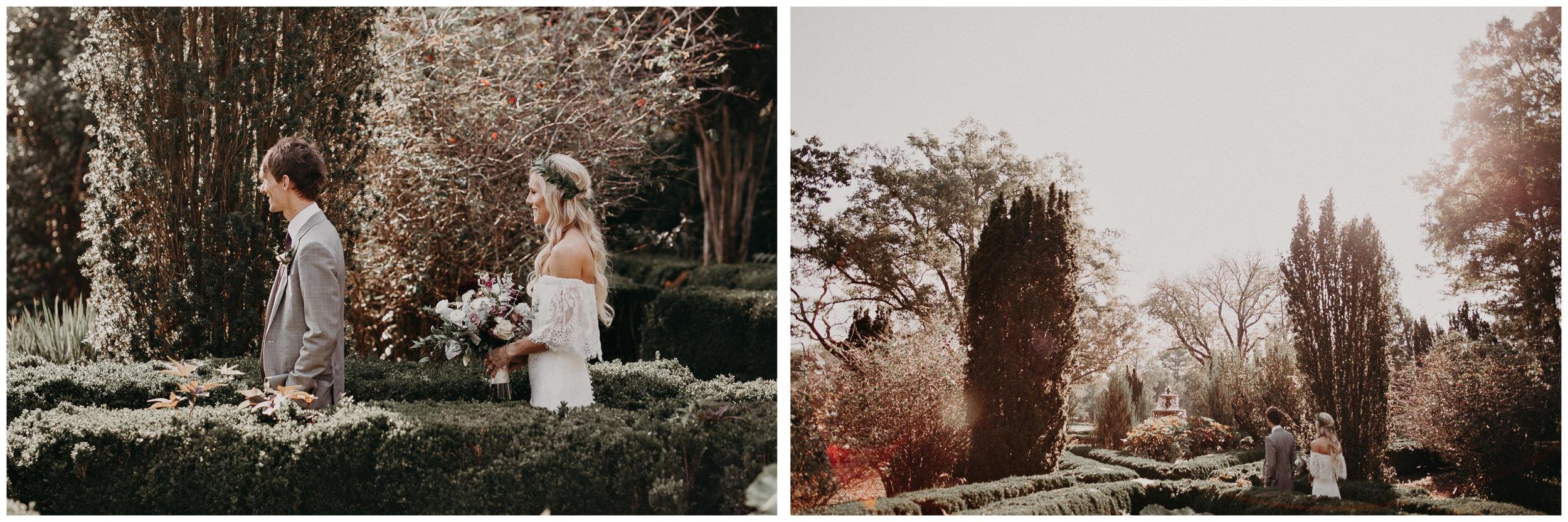 18 - Barnsley Gardens Wedding - Bride portraits - First Look .jpg
