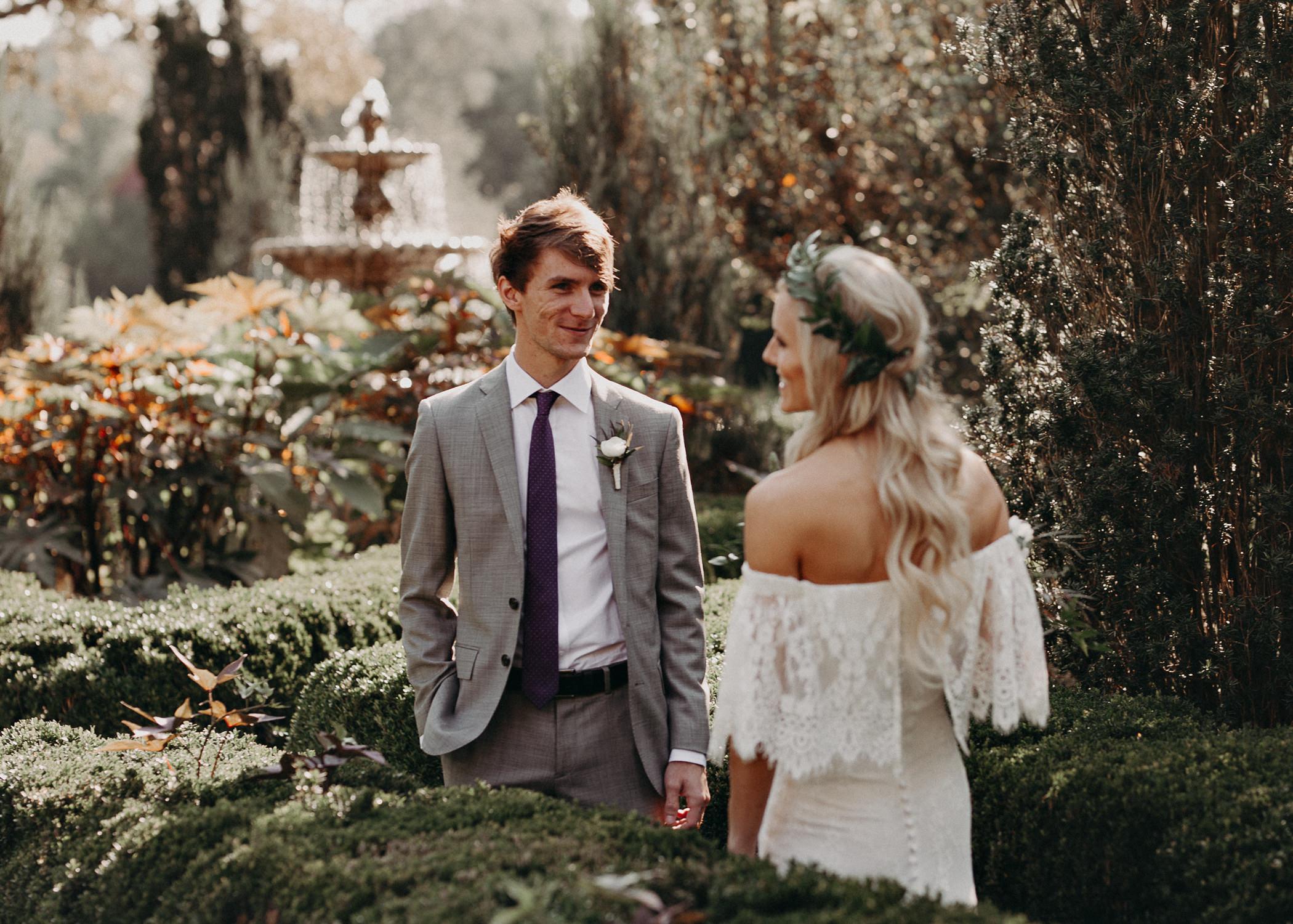 21 - Barnsley Gardens Wedding - Bride portraits - First Look .jpg