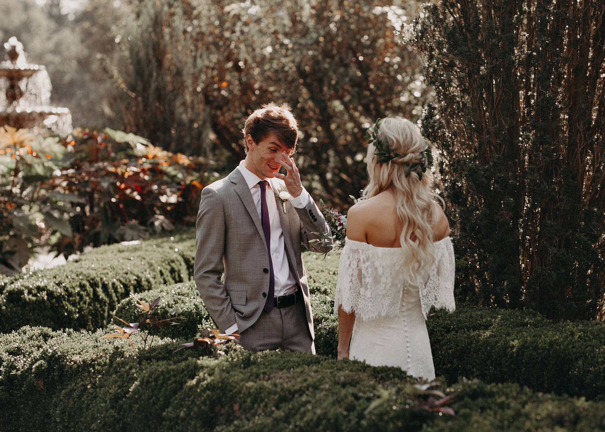 23 - Barnsley Gardens Wedding - Bride portraits - First Look .jpg