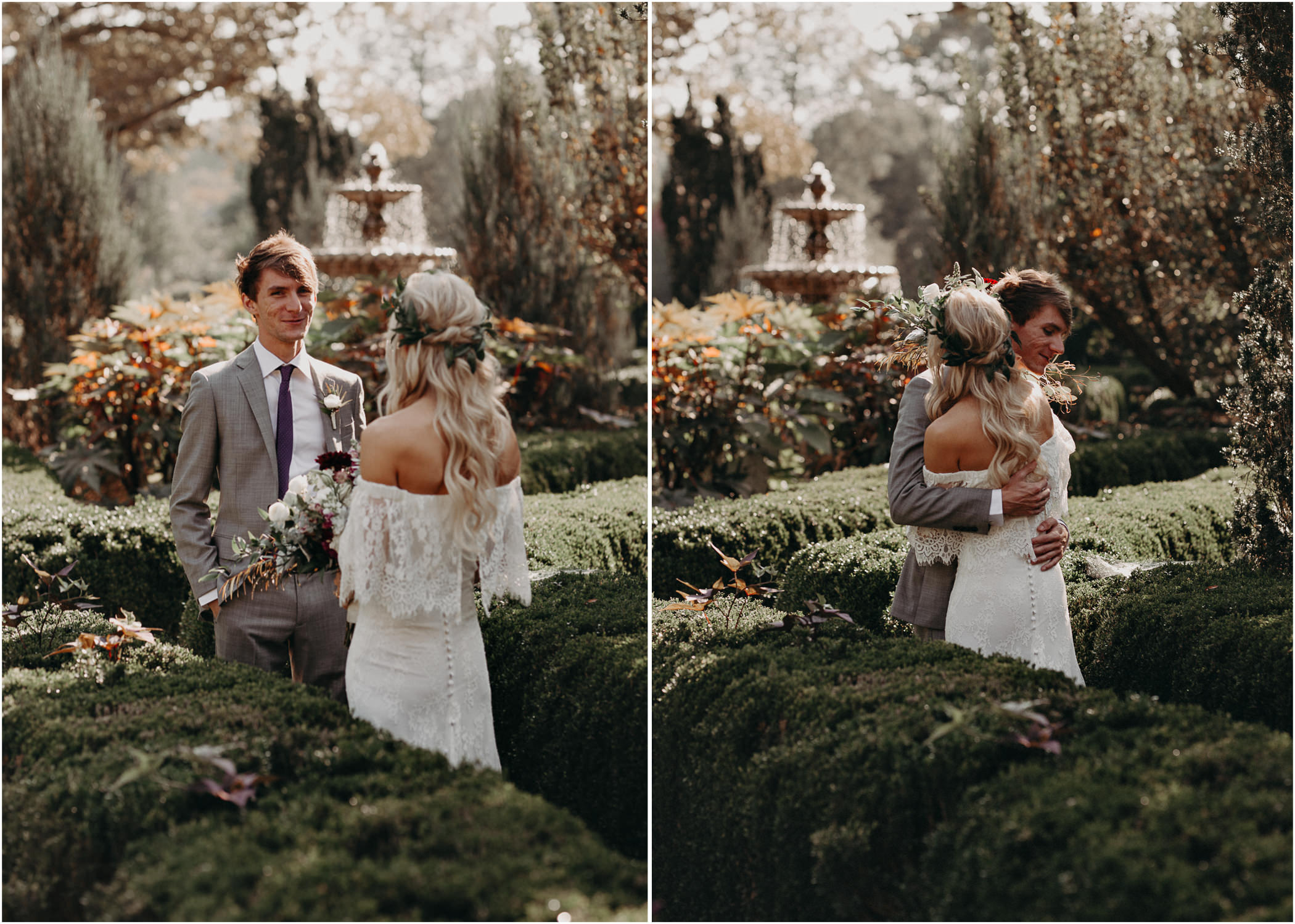 25 - Barnsley Gardens Wedding - Bride portraits - First Look .jpg