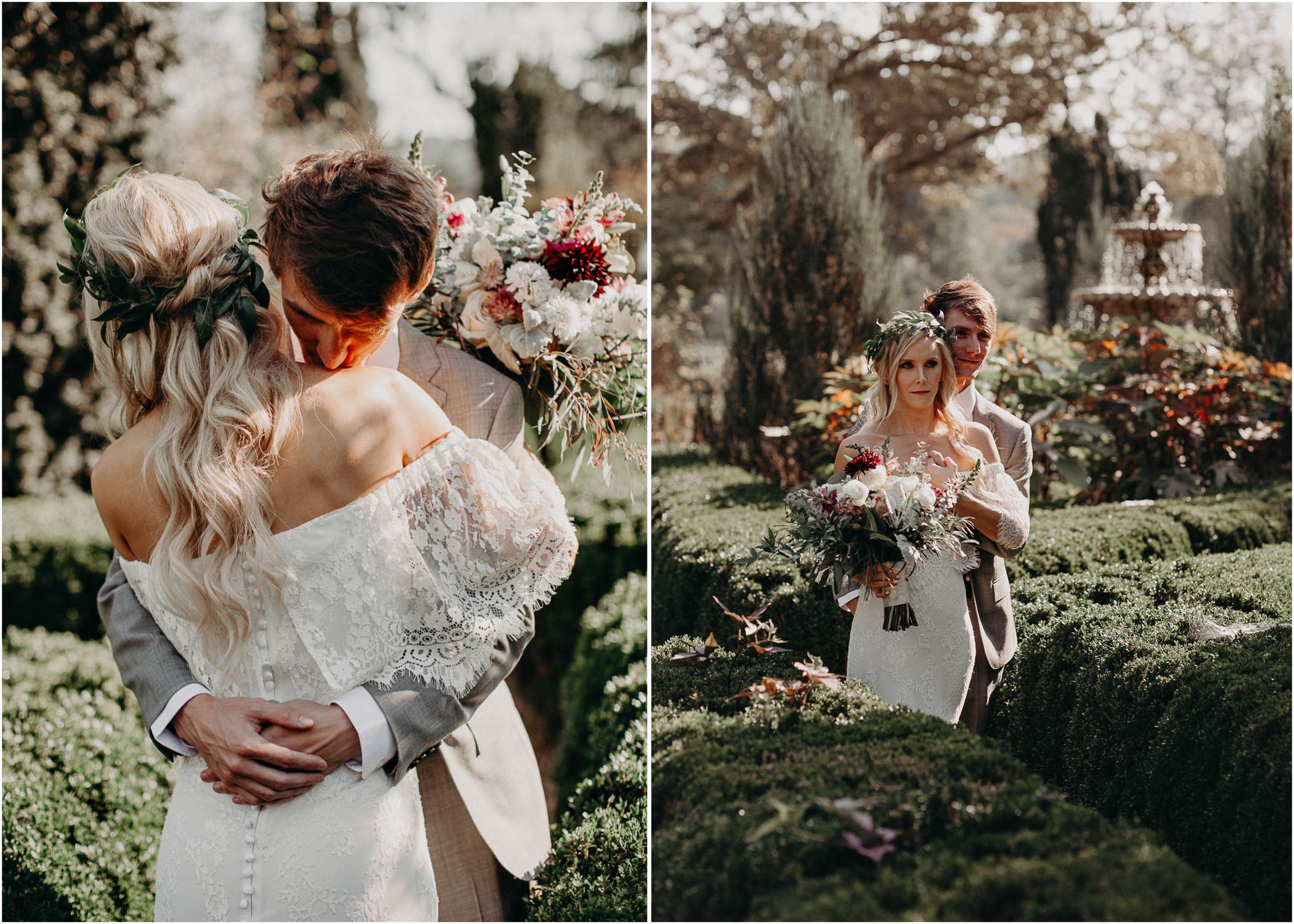 26 - Barnsley Gardens Wedding - Bride portraits - First Look .jpg
