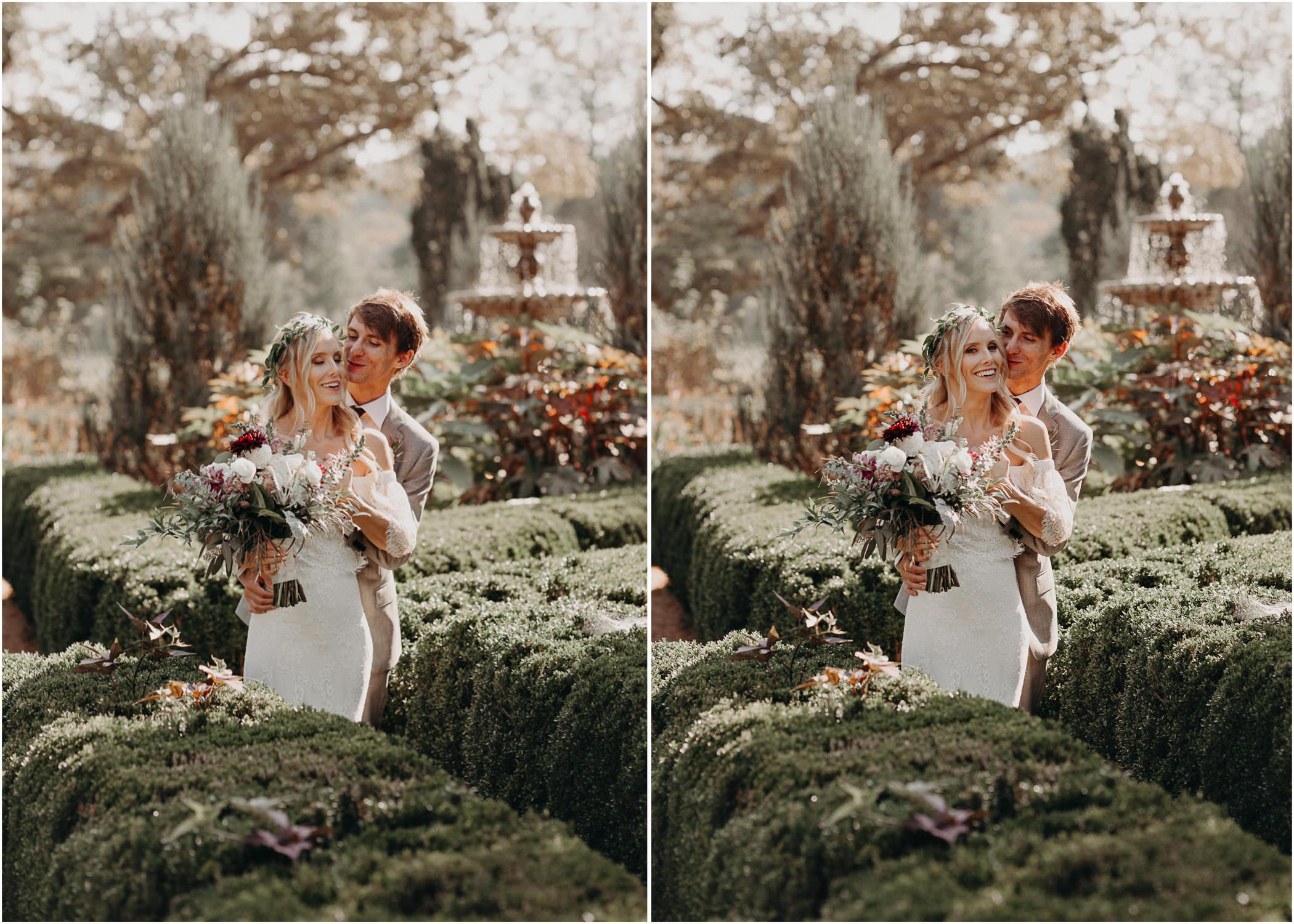 27 - Barnsley Gardens Wedding - Bride portraits - First Look .jpg