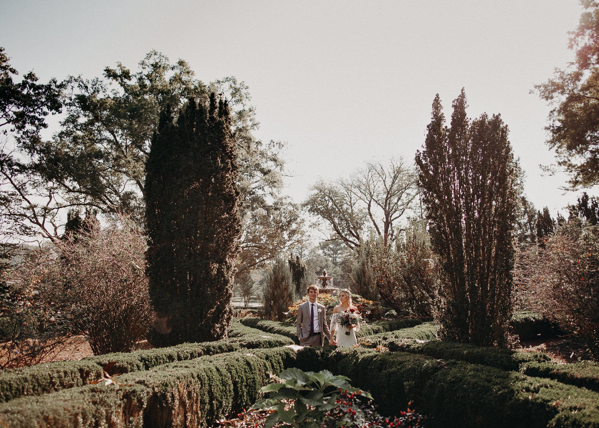 28 - Barnsley Gardens Wedding - Bride portraits - First Look .jpg
