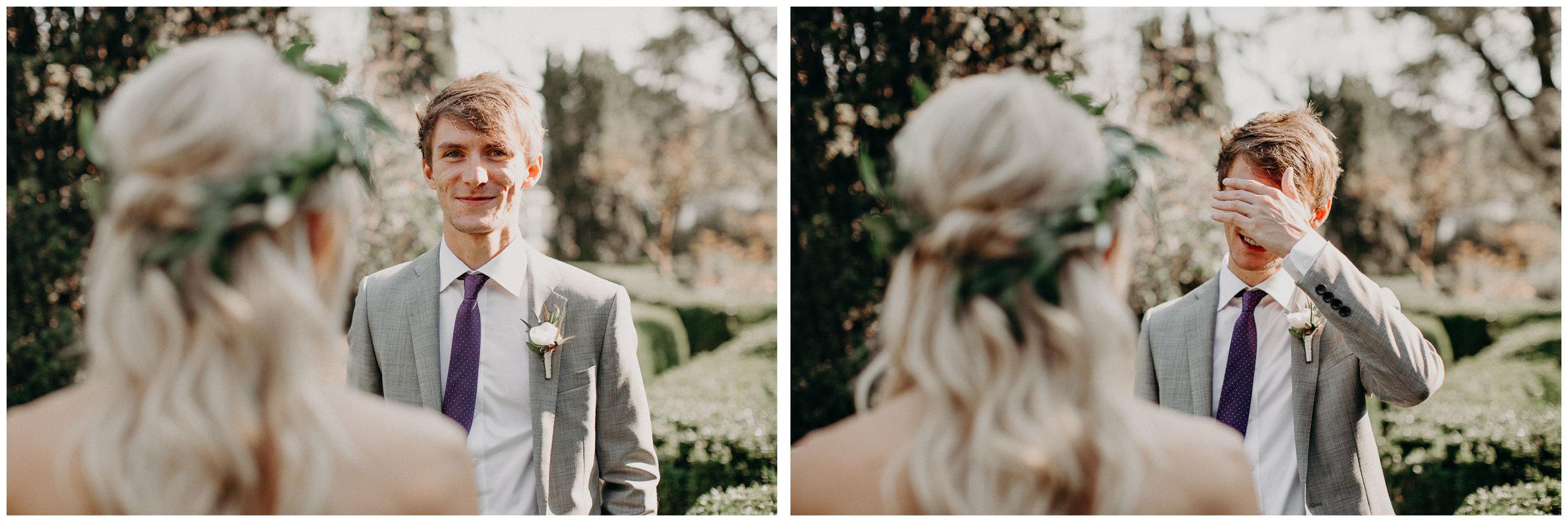 24 - Barnsley Gardens Wedding - Bride portraits - First Look .jpg