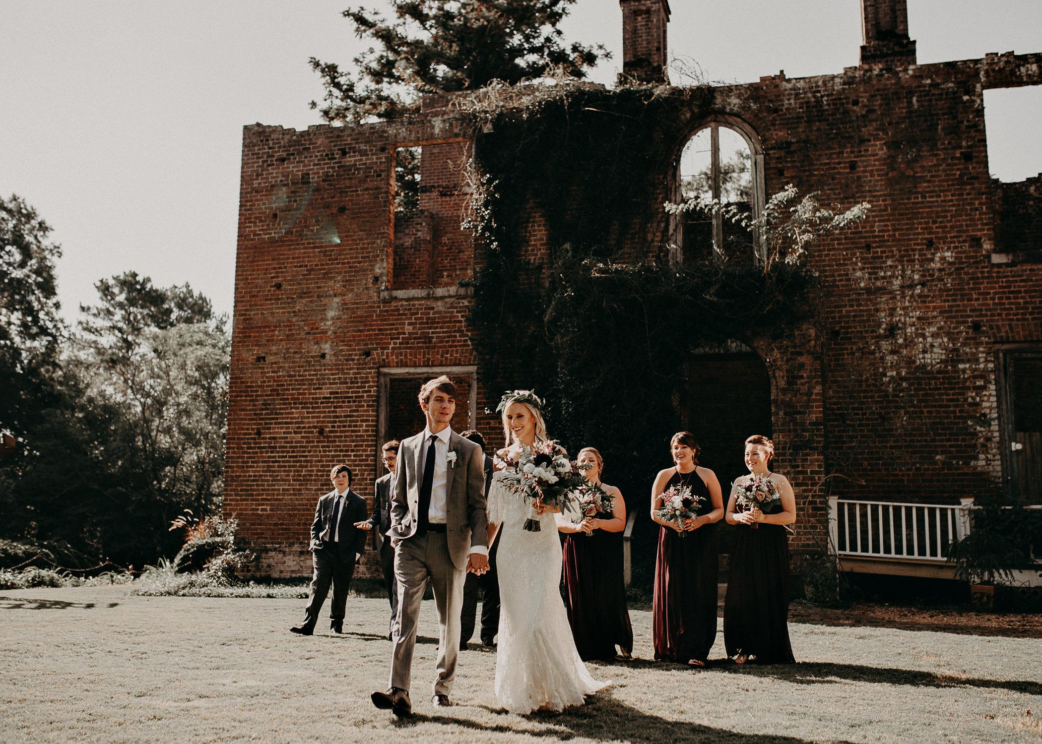 33 - Barnsley Gardens Wedding - Atlanta wedding photographer, Wedding Party portraits - First Look .jpg
