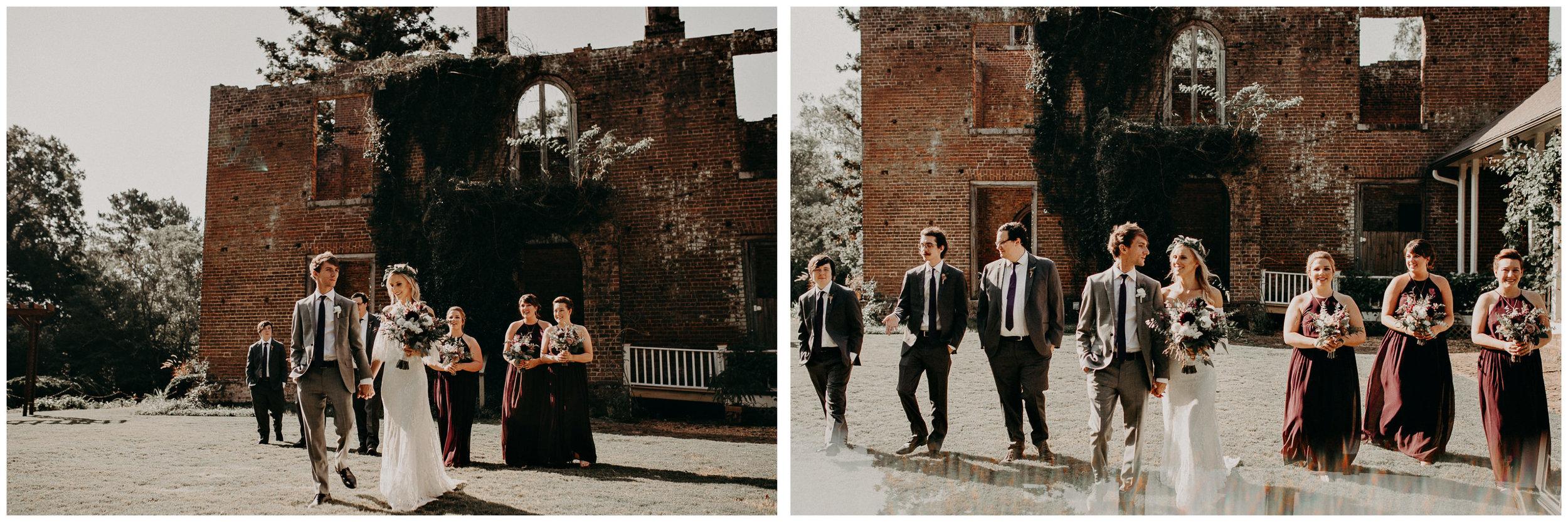 34 - Barnsley Gardens Wedding - Wedding Party portraits - First Look .jpg