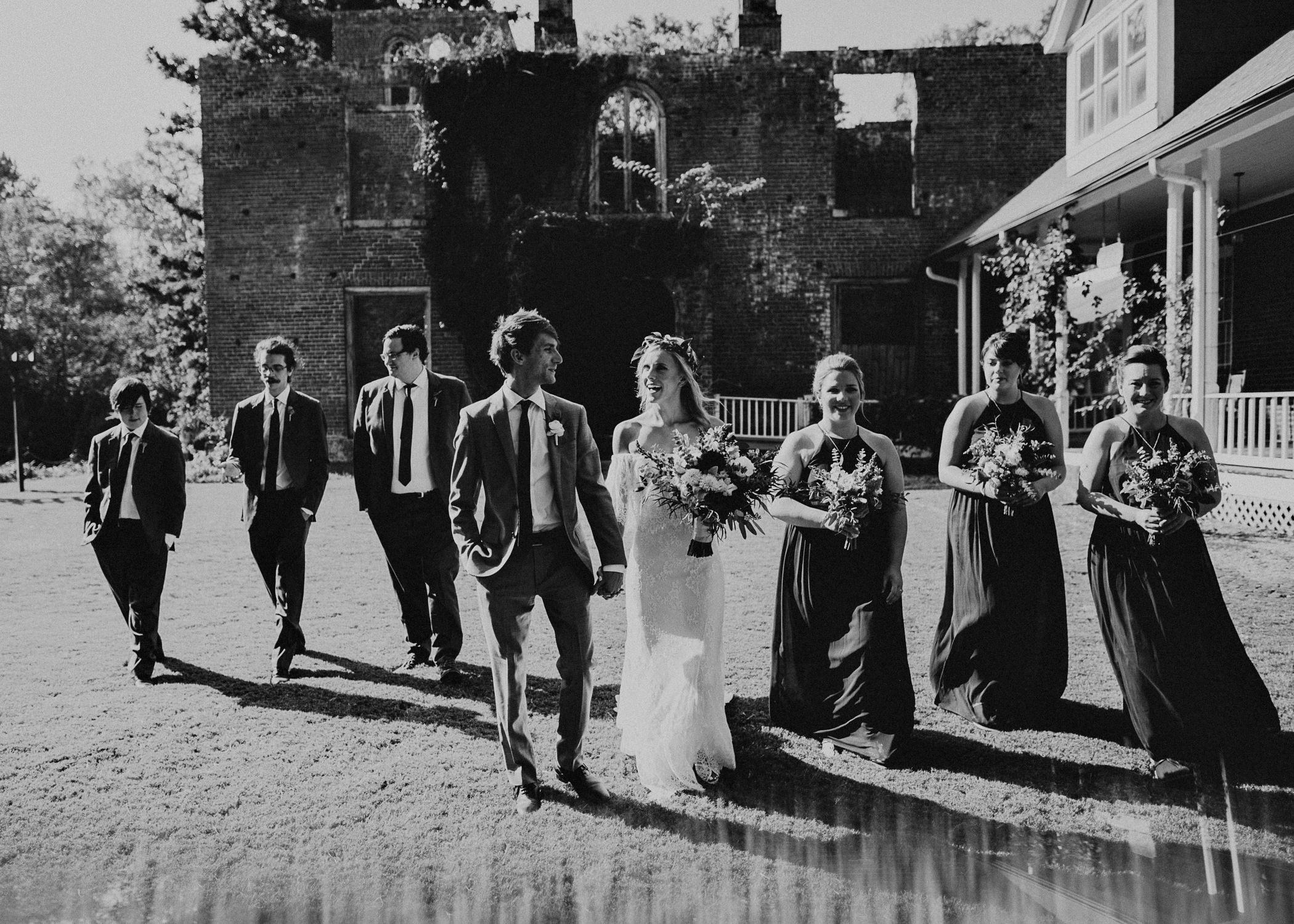 36 - Barnsley Gardens Wedding - Wedding Party portraits - First Look .jpg