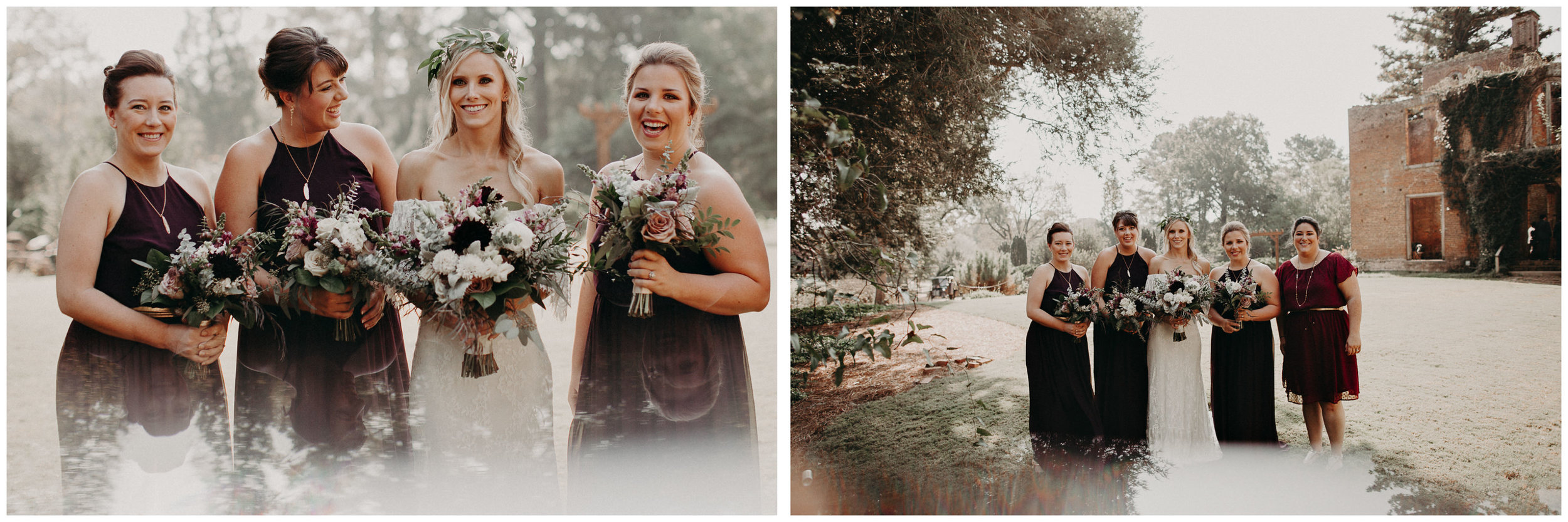 39 - Barnsley Gardens Wedding - Wedding Party portraits - First Look .jpg