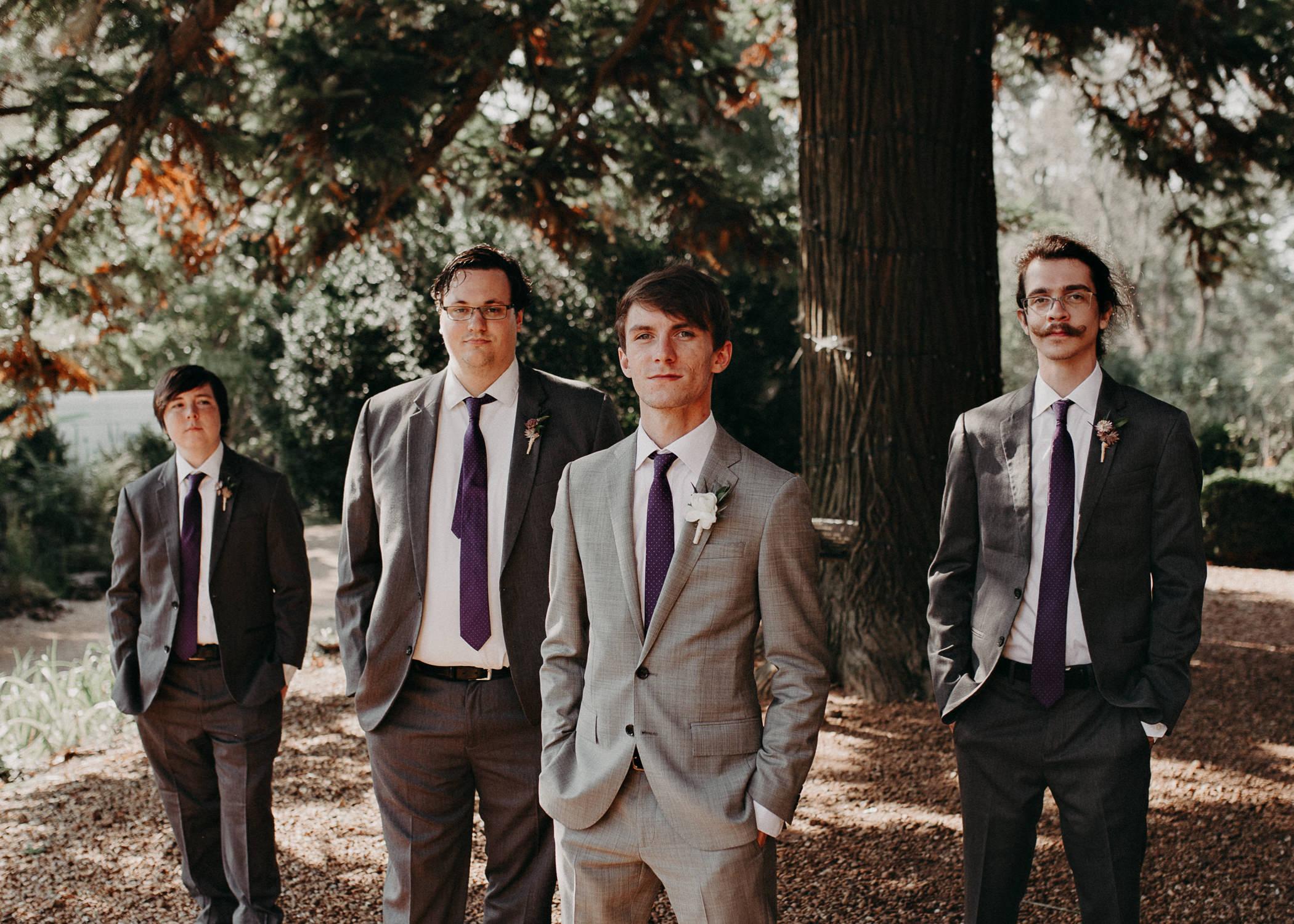 40 - Barnsley Gardens Wedding - Wedding Party portraits - First Look .jpg