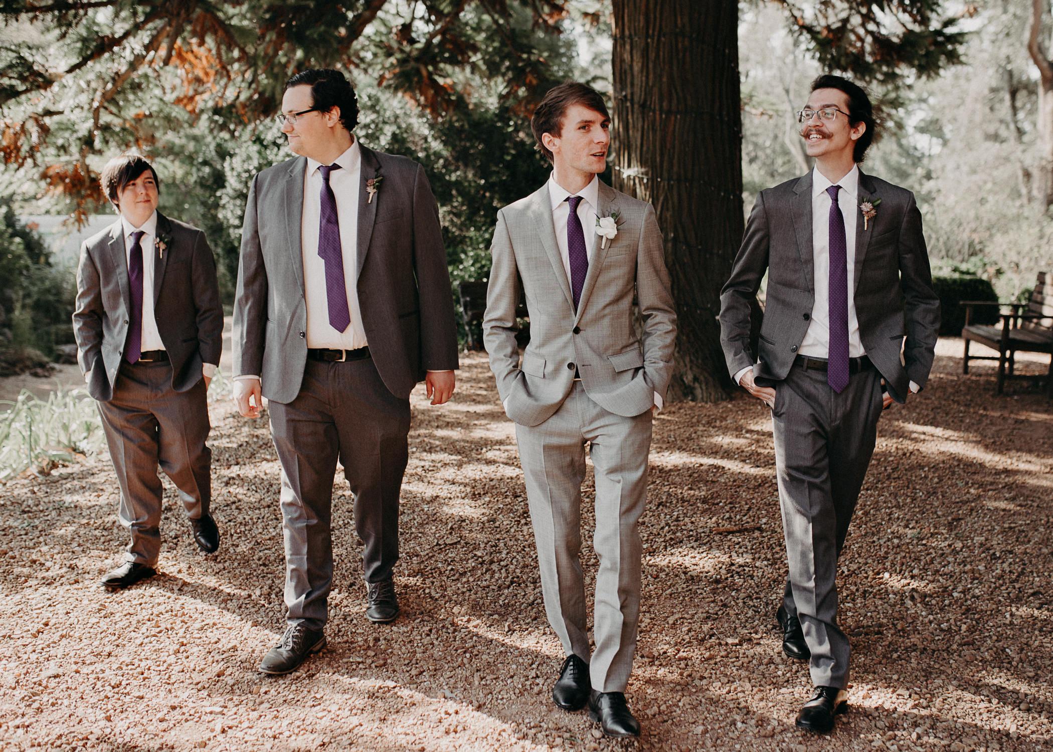 41 - Barnsley Gardens Wedding - Wedding Party portraits - First Look .jpg