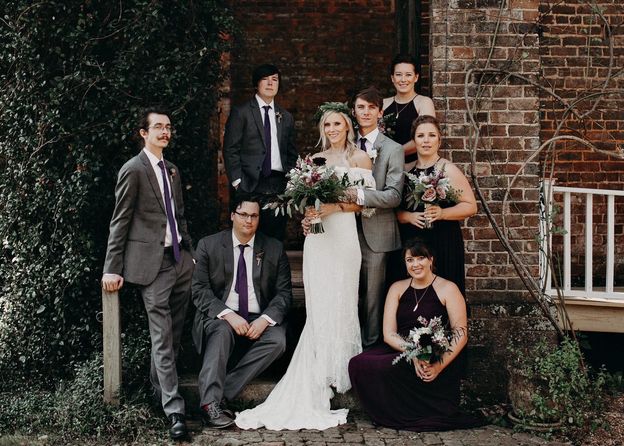 42 - Barnsley Gardens Wedding - Wedding Party portraits - First Look .jpg